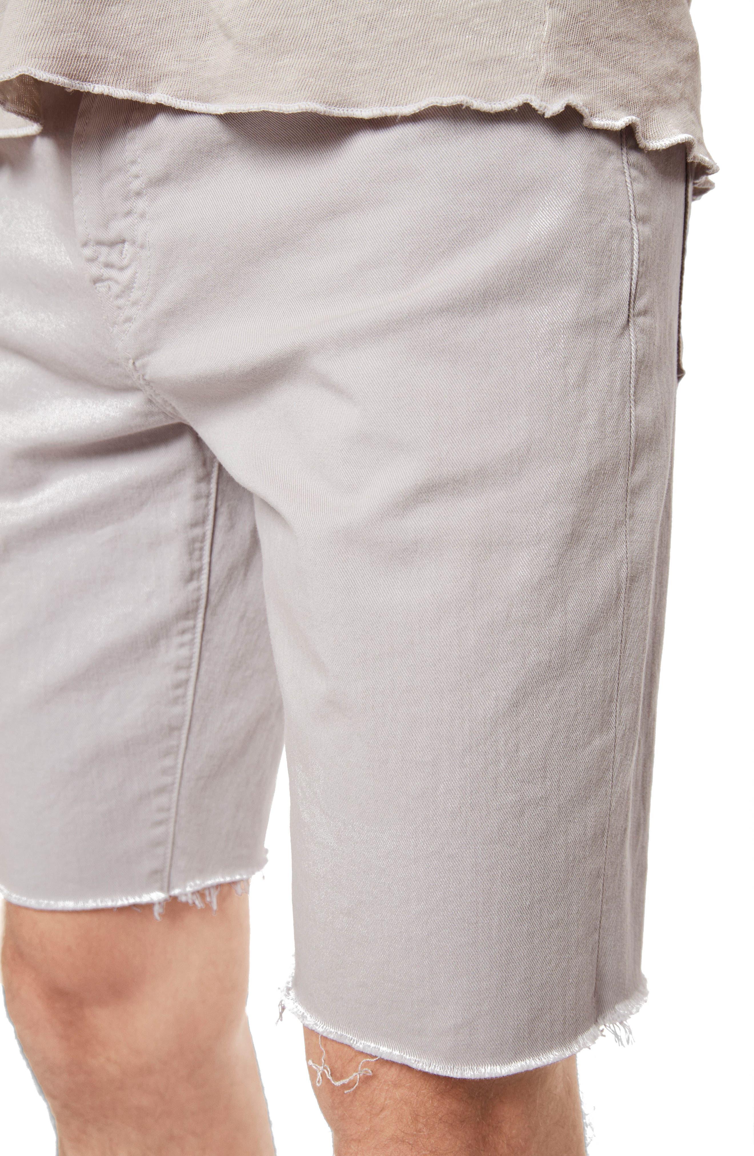 Eli Cutoff Denim Shorts,                             Alternate thumbnail 4, color,                             Reflect