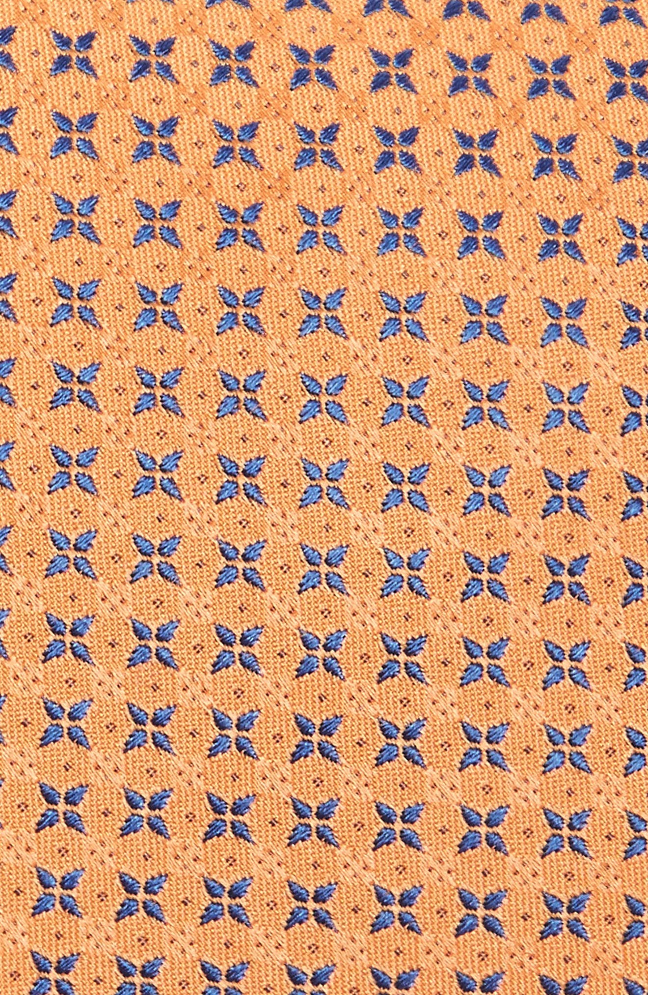 Geometric Silk Tie,                             Alternate thumbnail 2, color,                             Orange