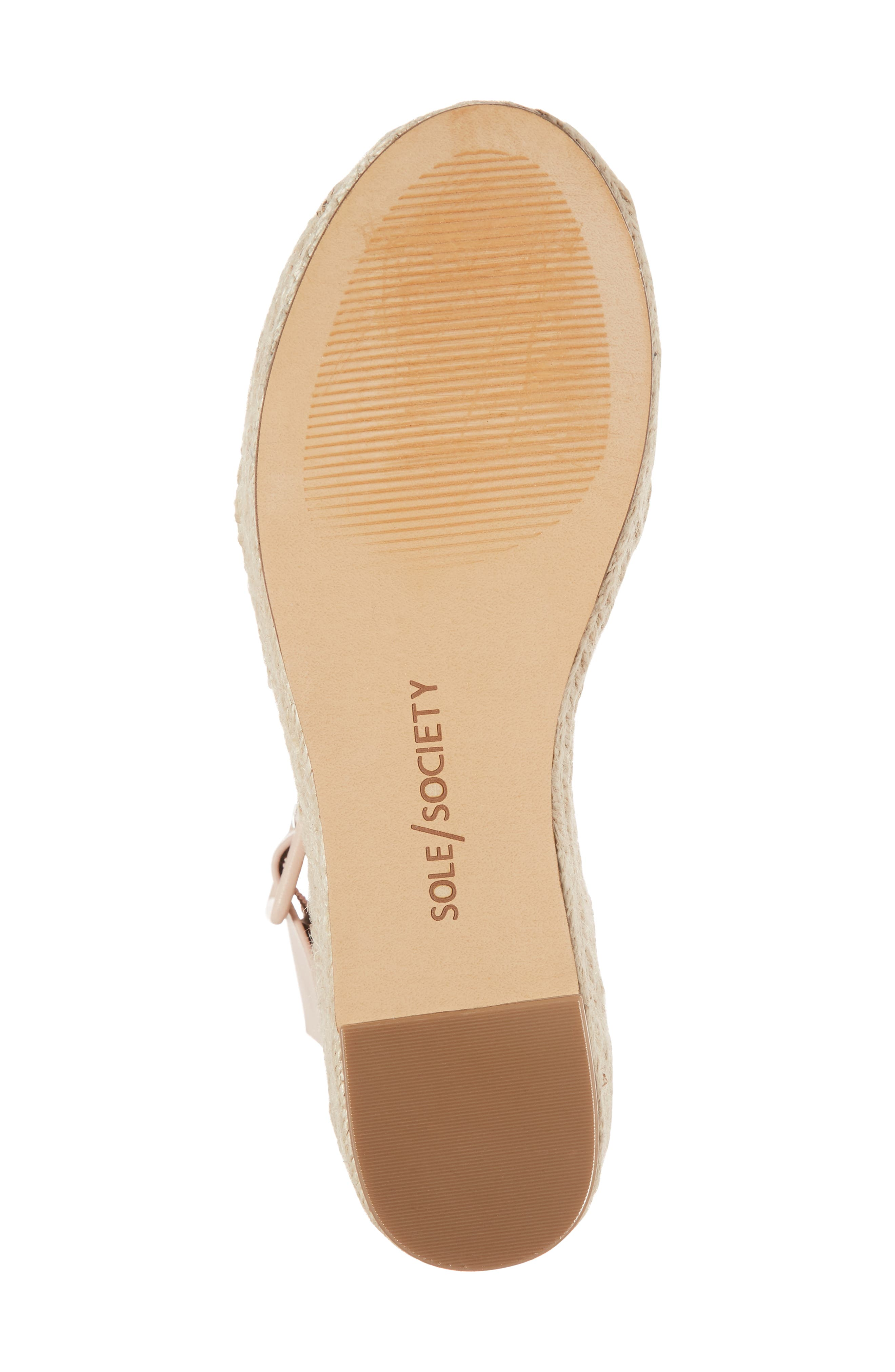 'Audrina' Platform Espadrille Sandal,                             Alternate thumbnail 6, color,                             Rose Blush