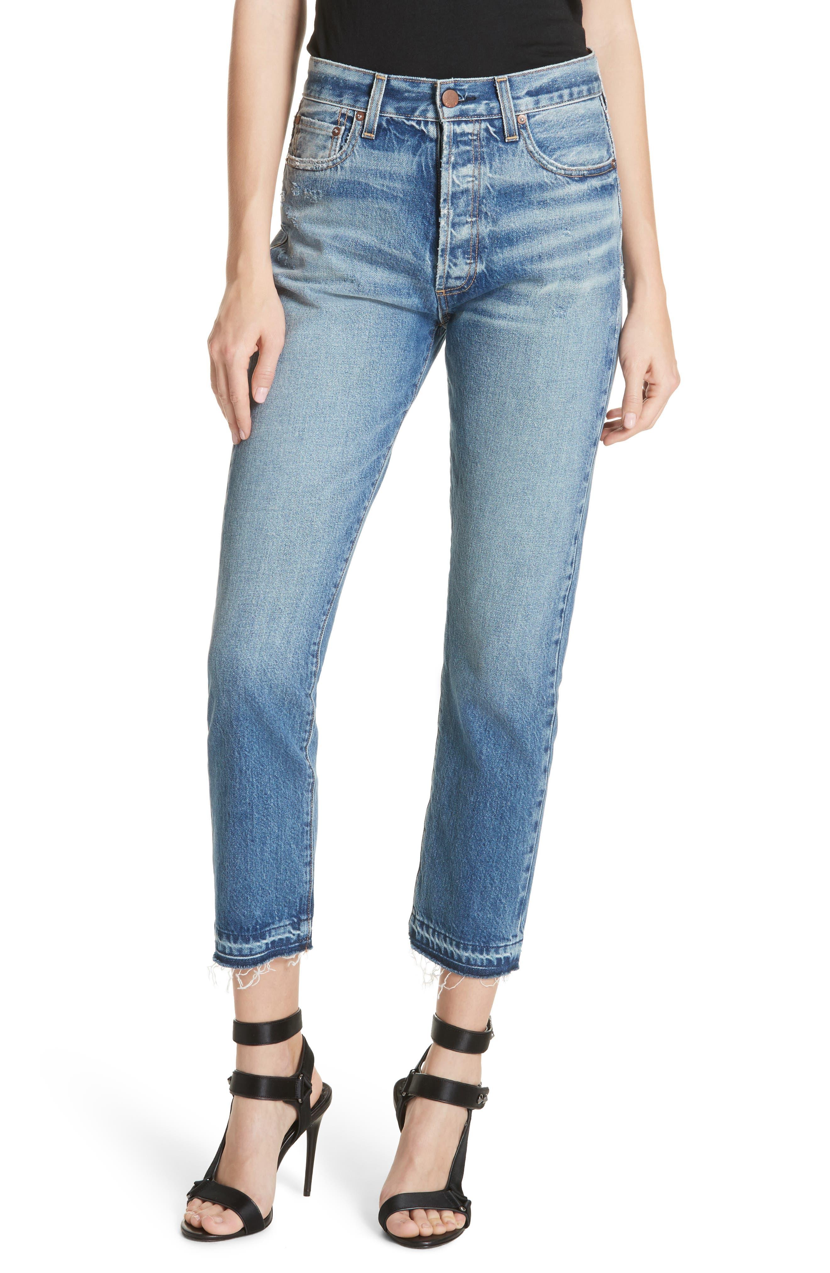 AO.LA Amazing Release Hem Slim Girlfriend Jeans,                         Main,                         color, Best Intentions
