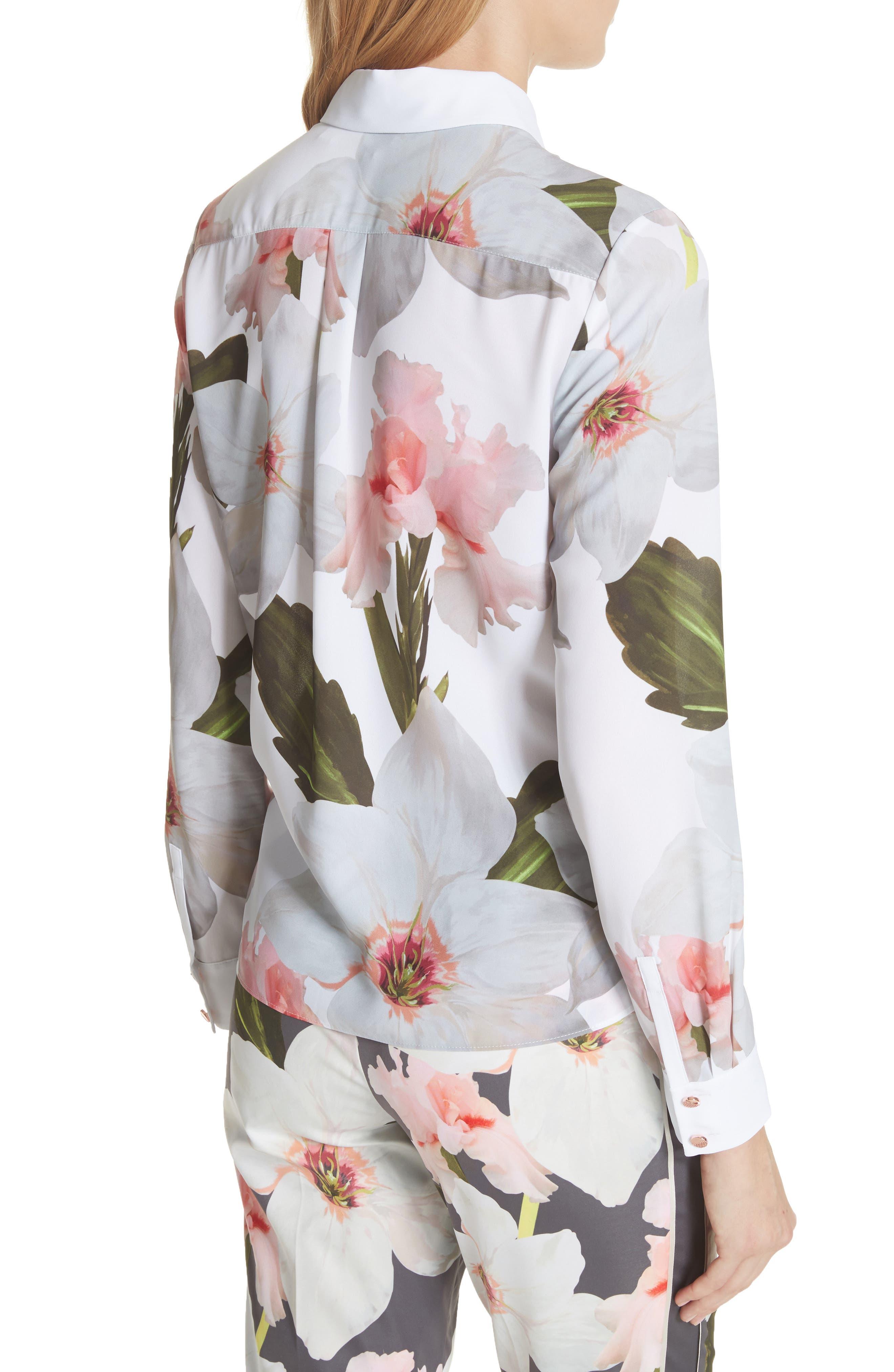 Chatsworth Bloom Shirt,                             Alternate thumbnail 2, color,                             White