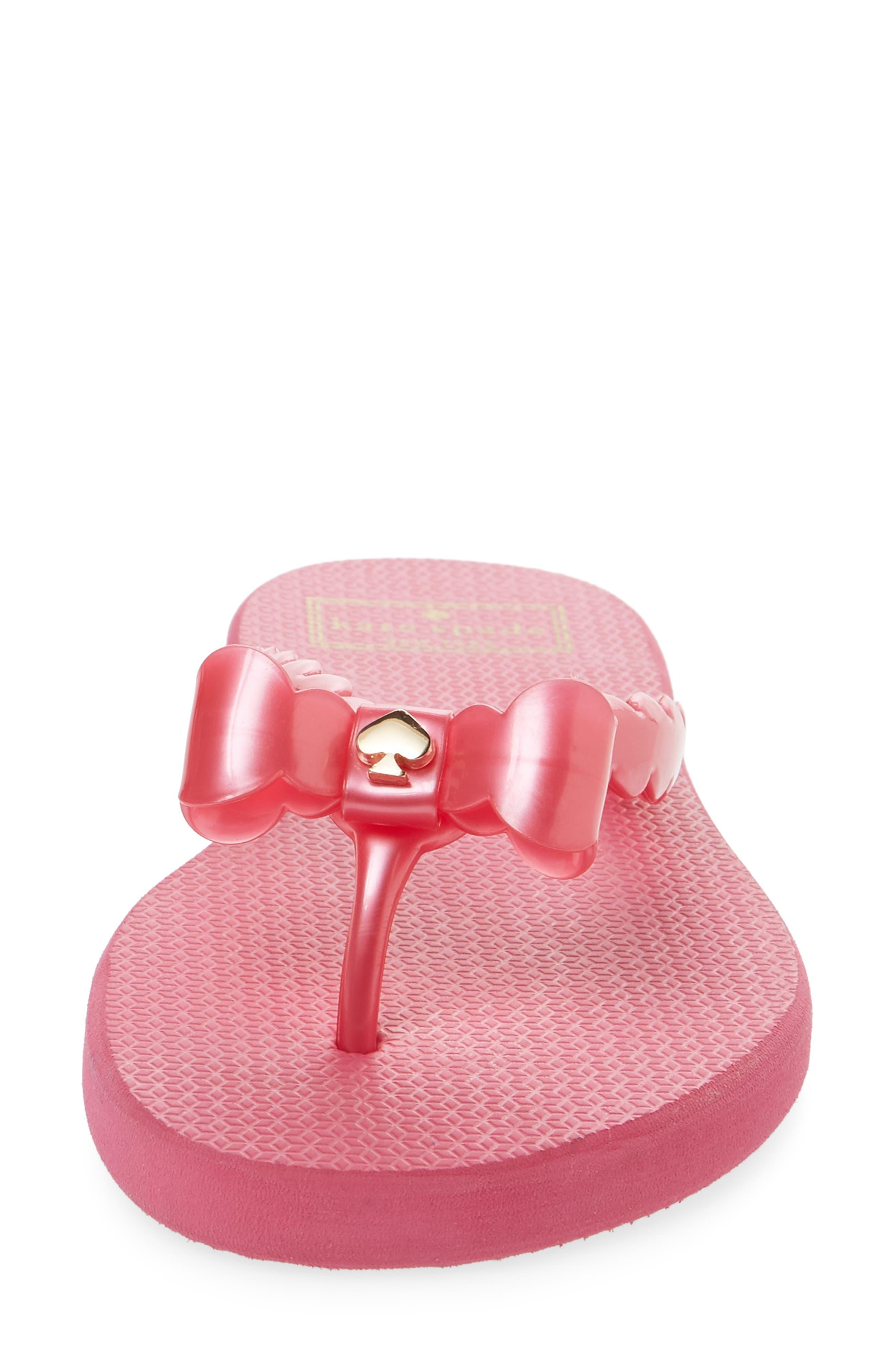 denise flip flop,                             Alternate thumbnail 4, color,                             Deep Pink