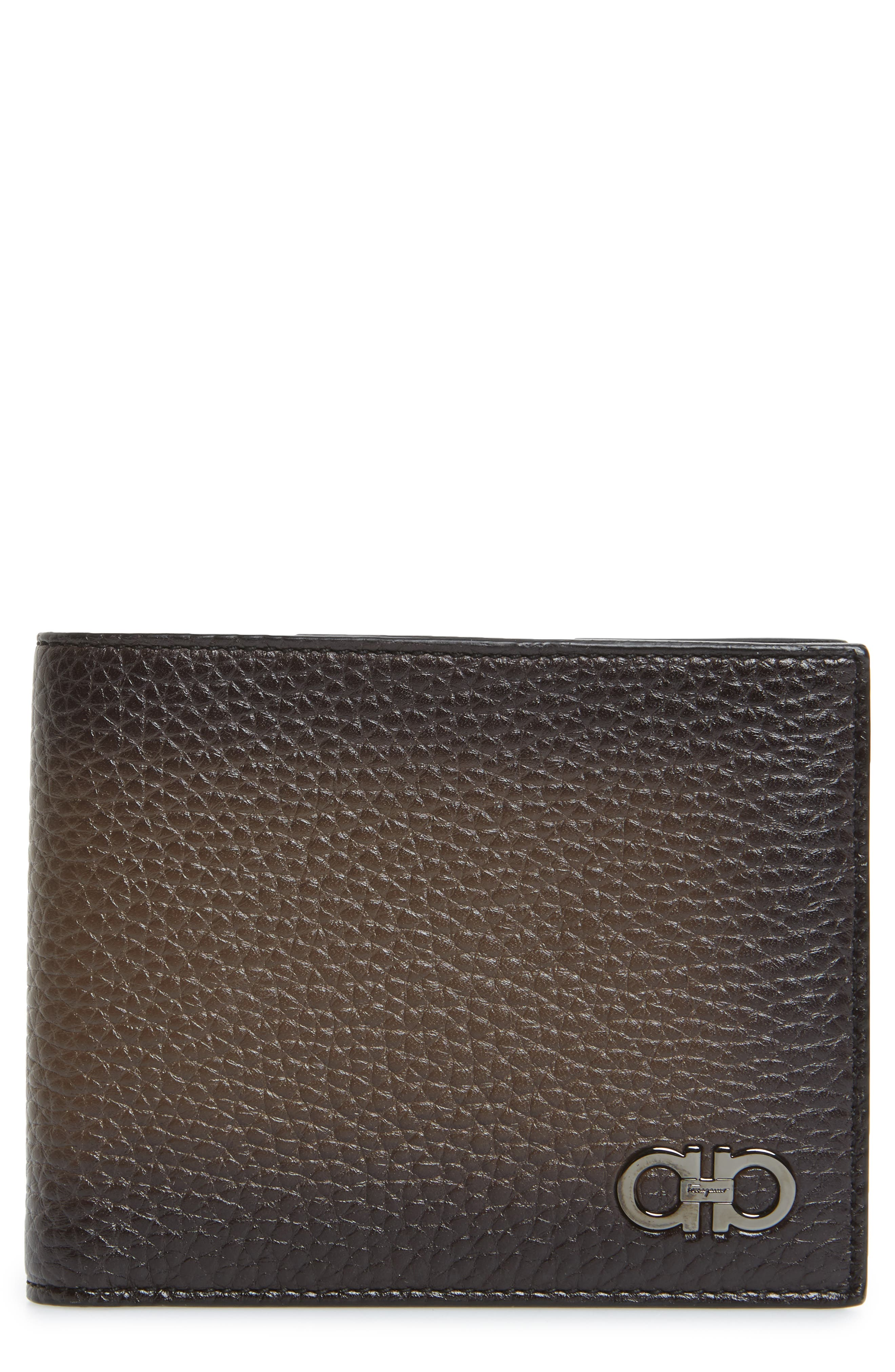 Glow Leather Wallet,                         Main,                         color, Sepia