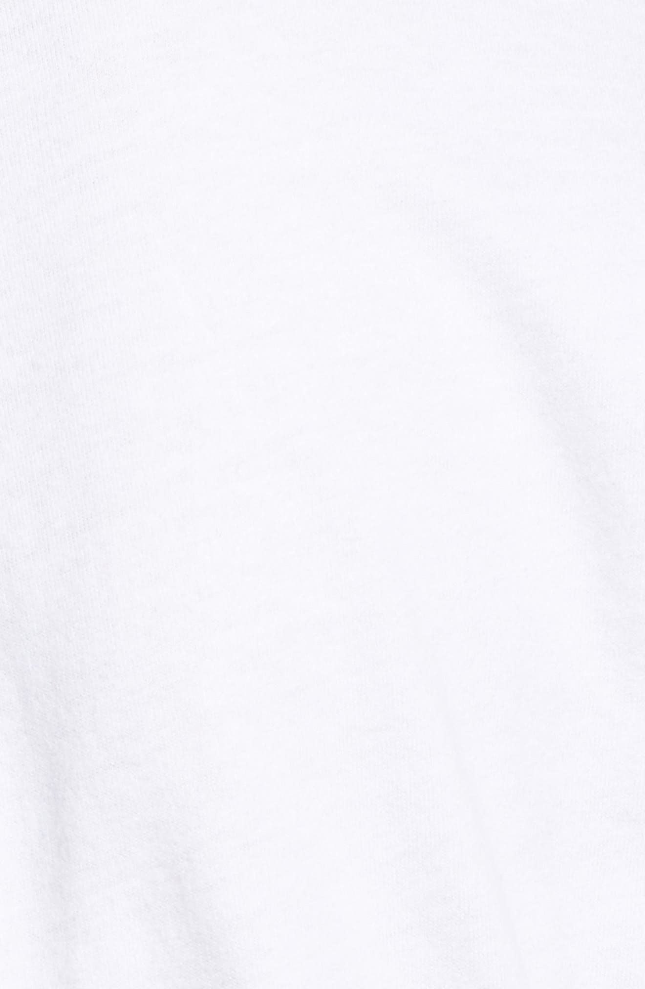 Ruched Brushed Cotton Tee,                             Alternate thumbnail 5, color,                             White