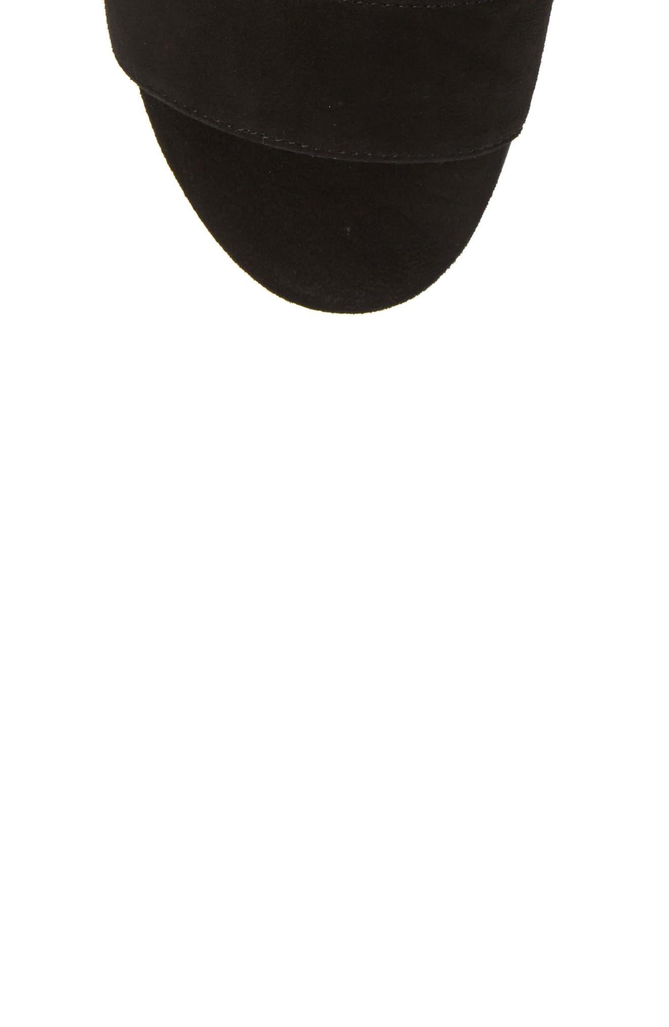 Kiko Ankle Tie Sandal,                             Alternate thumbnail 5, color,                             Black Suede