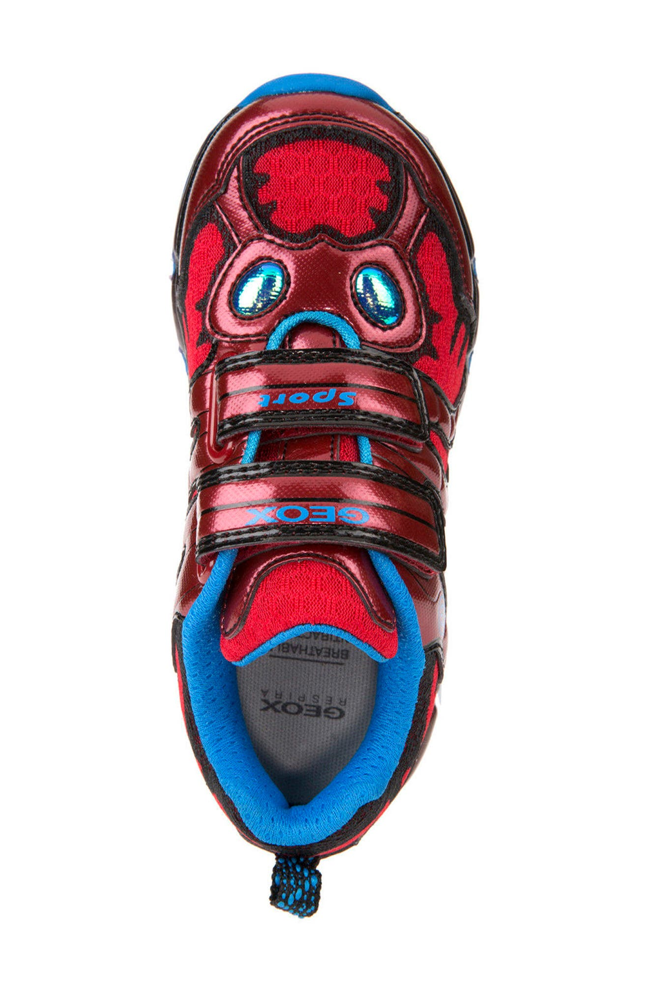 Android Light-Up Sneaker,                             Alternate thumbnail 5, color,                             Red