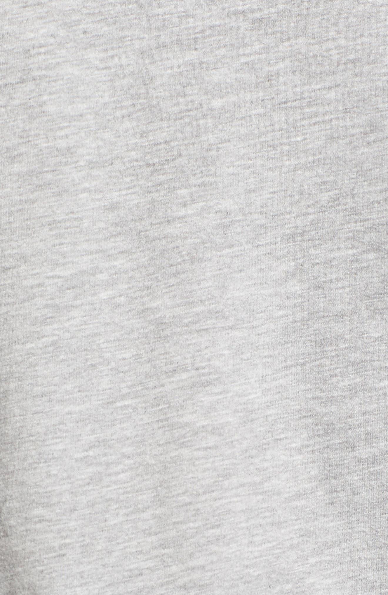 Varsity Stripe Tee,                             Alternate thumbnail 5, color,                             Grey Heather- White Combo