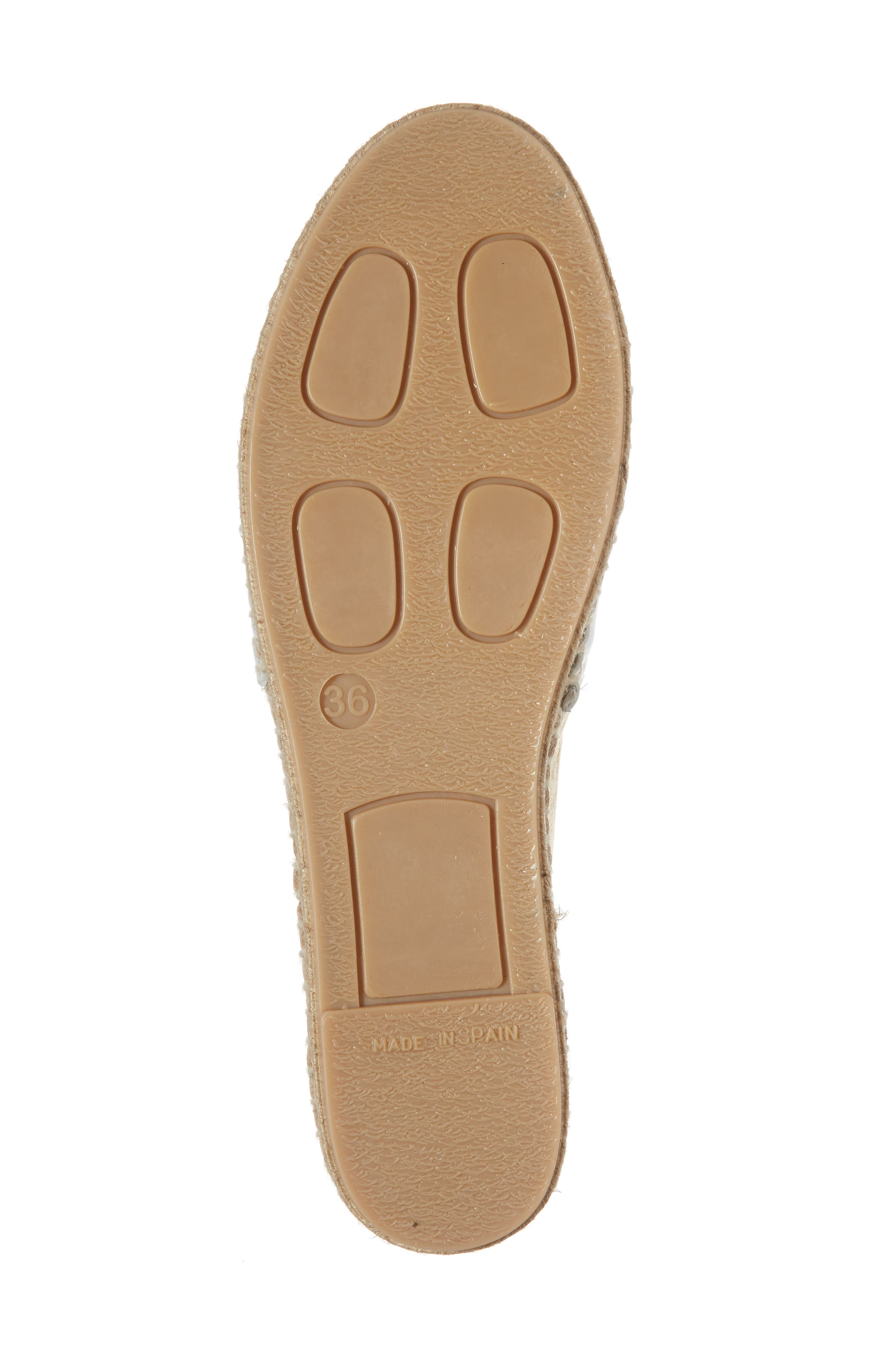 Milly Espadrille,                             Alternate thumbnail 6, color,                             Gold Leather