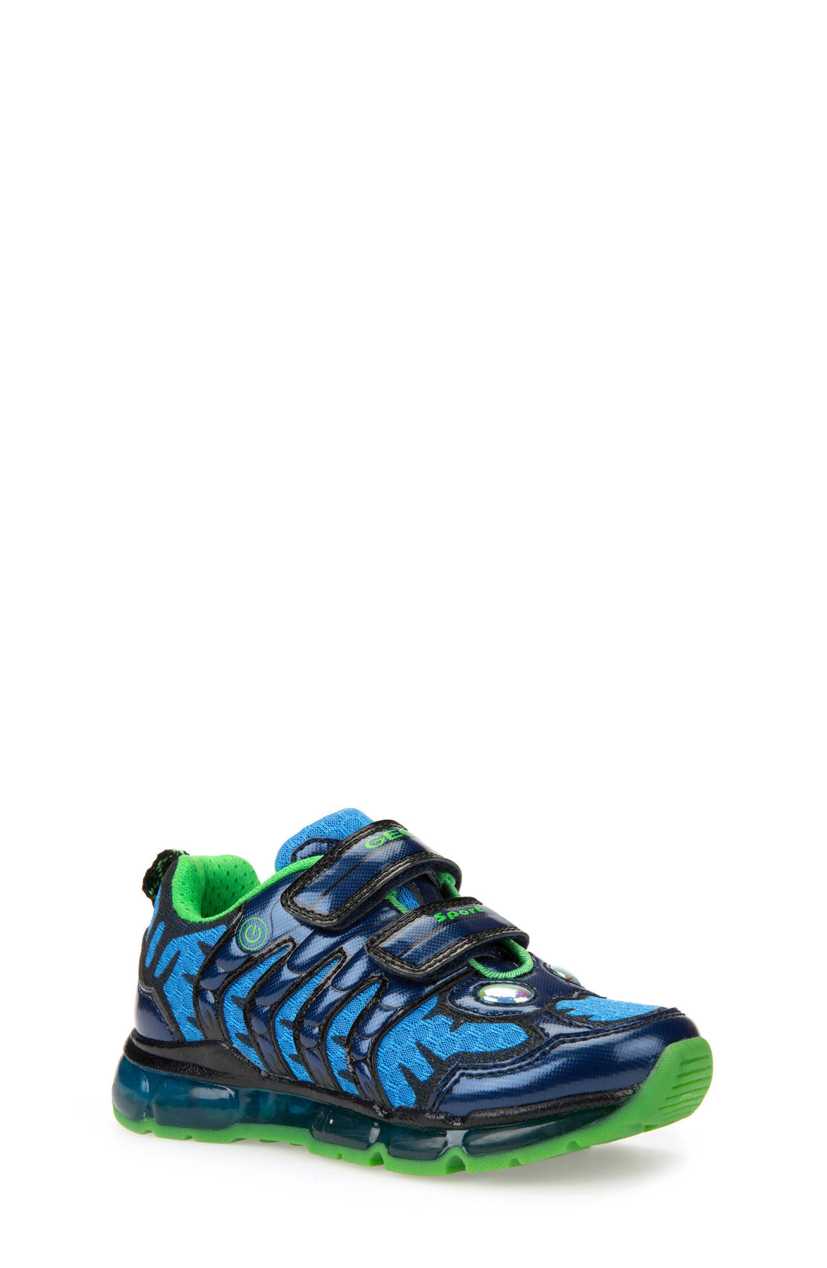 Android Light-Up Sneaker,                             Main thumbnail 1, color,                             Navy