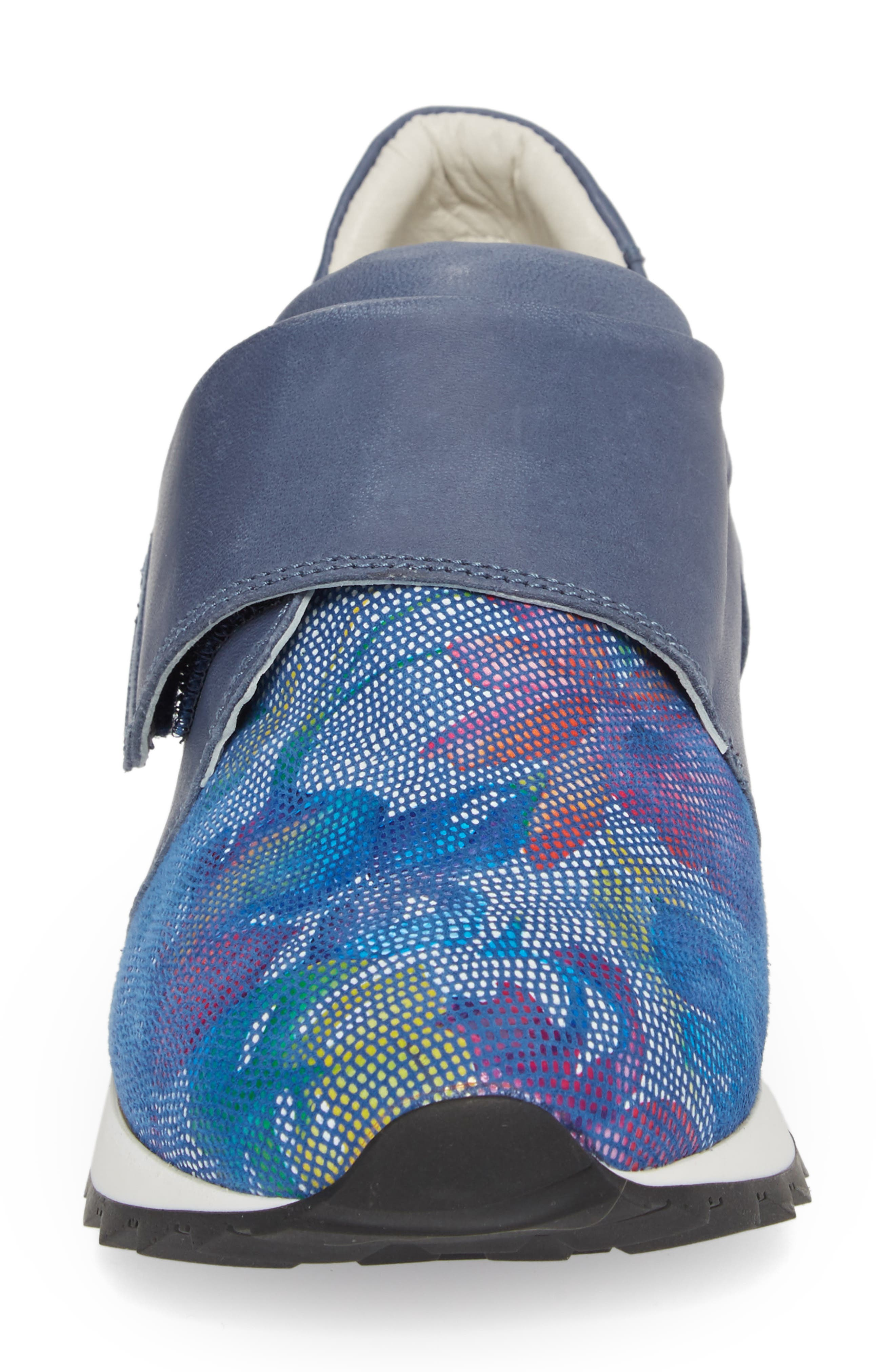 Danza Wedge Sneaker,                             Alternate thumbnail 4, color,                             Royal Leather