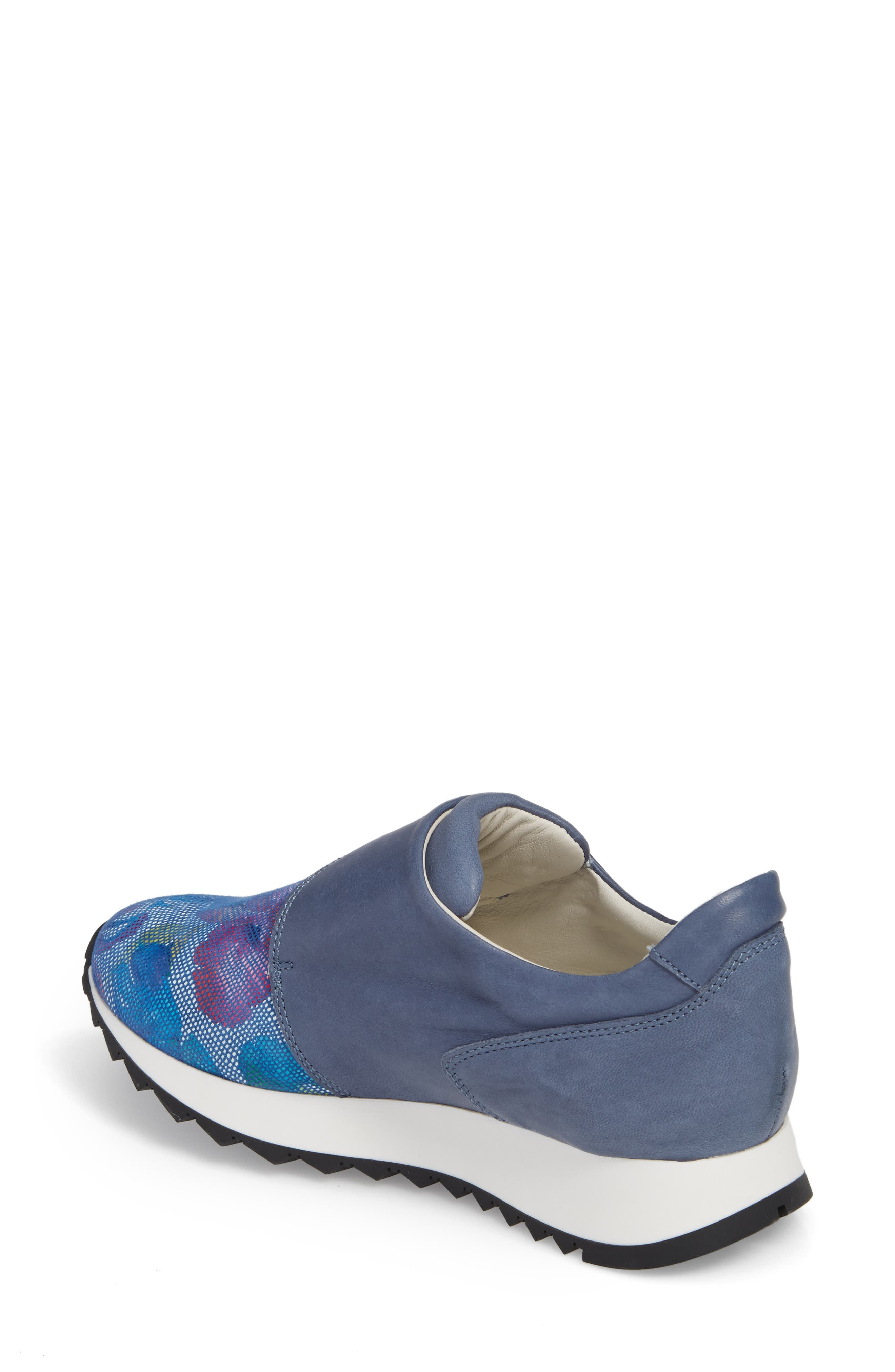 Danza Wedge Sneaker,                             Alternate thumbnail 2, color,                             Royal Leather