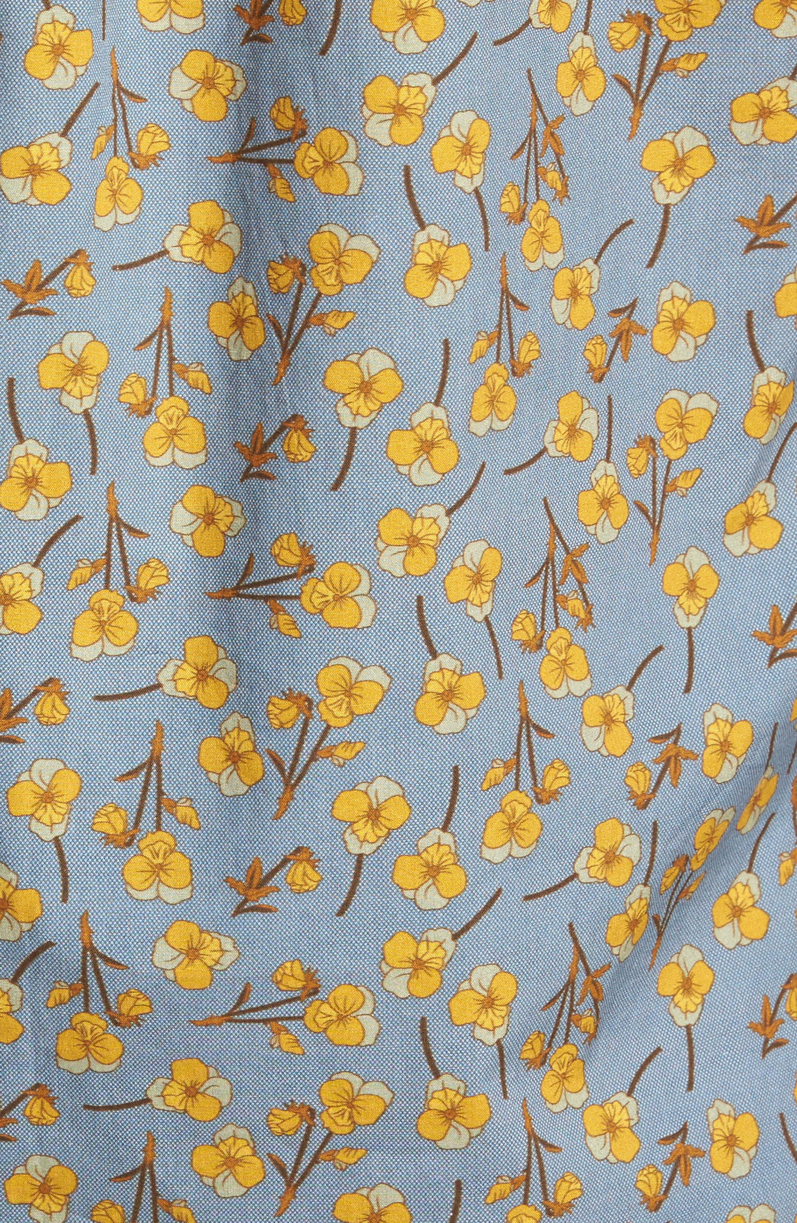 Golden Flower Shirt,                             Alternate thumbnail 5, color,                             Gold