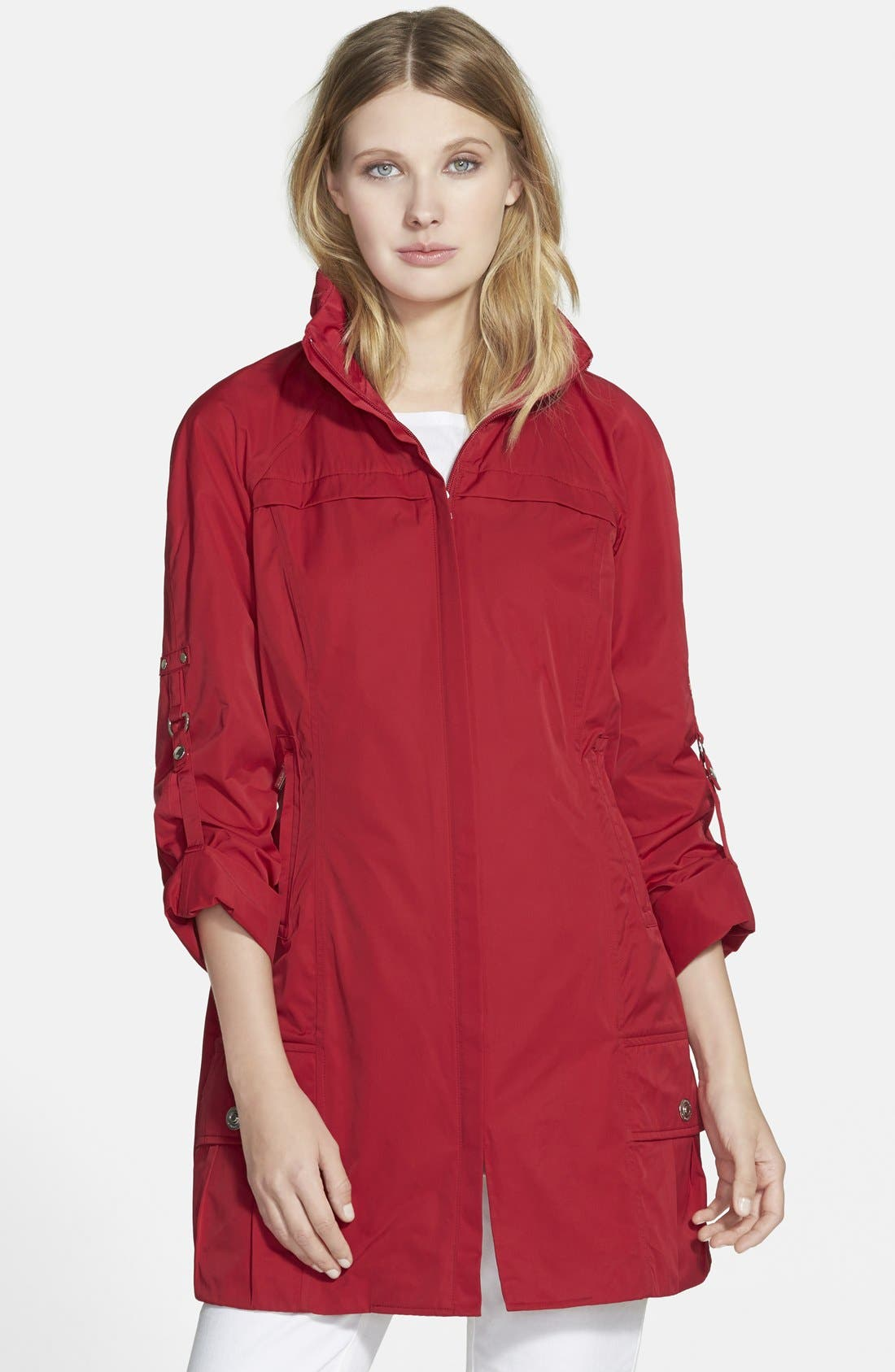 Alternate Image 1 Selected - RAINFOREST Packable Roll Sleeve Anorak