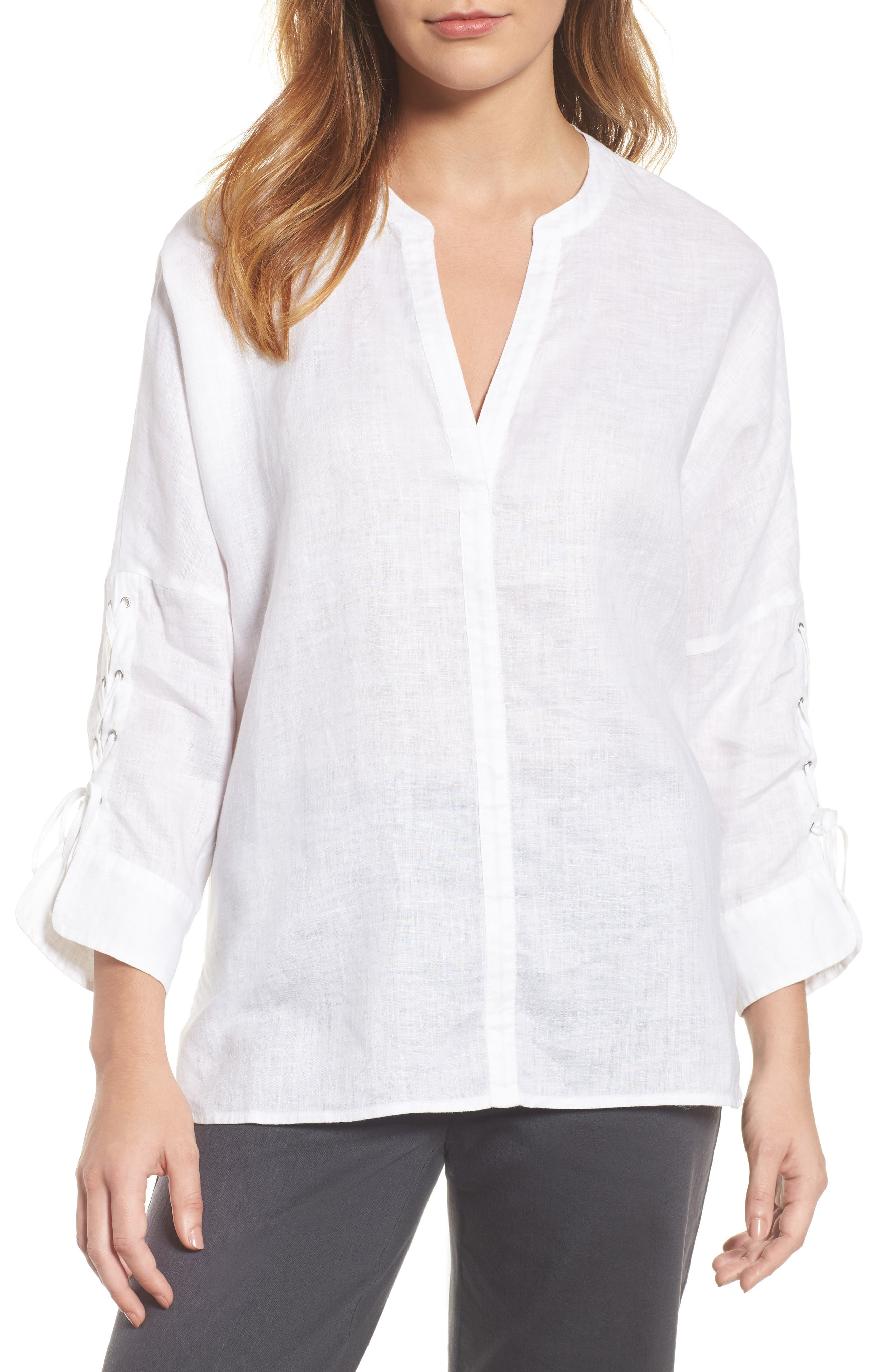 Alternate Image 1 Selected - NIC + ZOE Cliff View Linen Top
