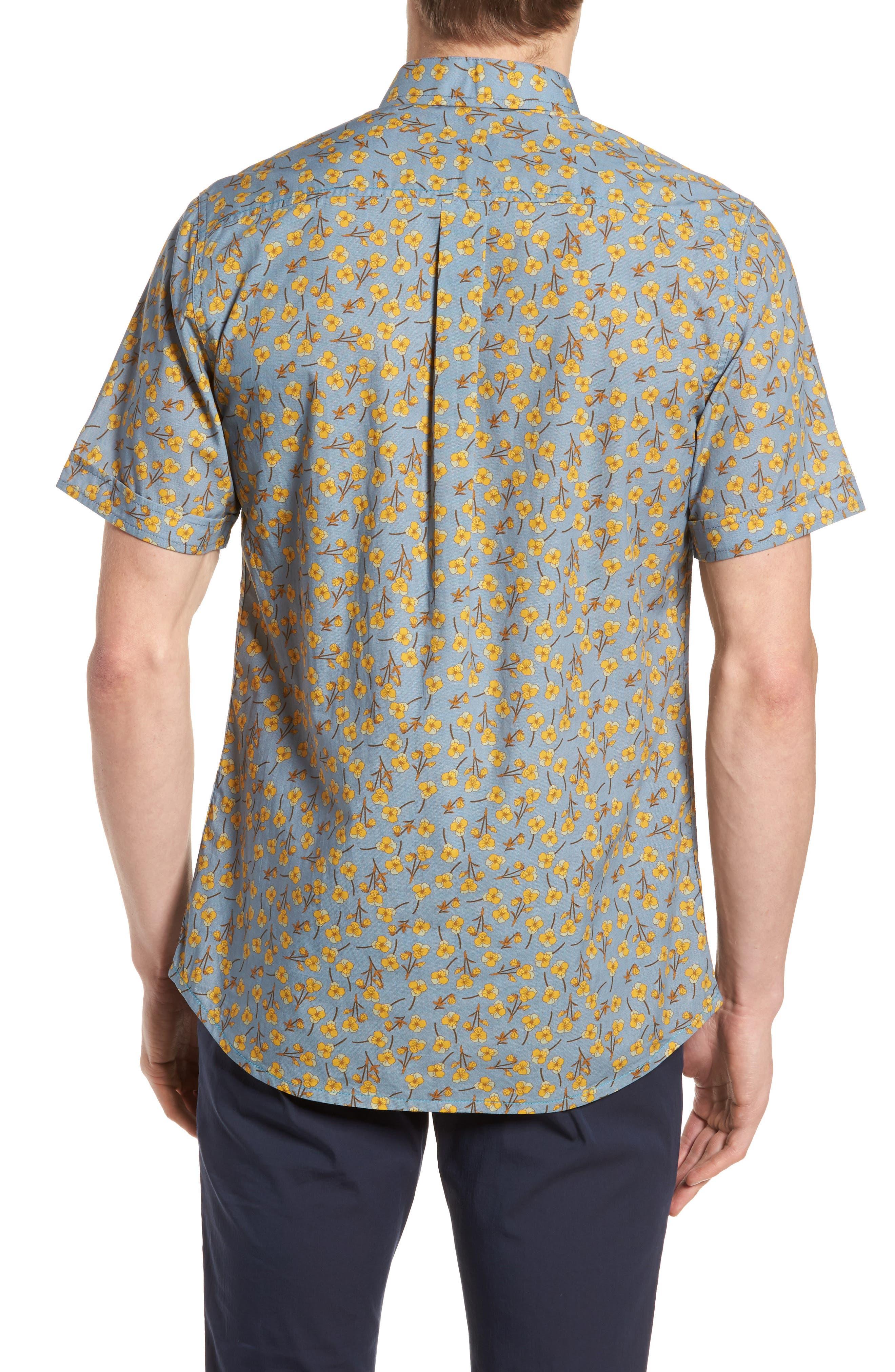 Golden Flower Shirt,                             Alternate thumbnail 3, color,                             Gold