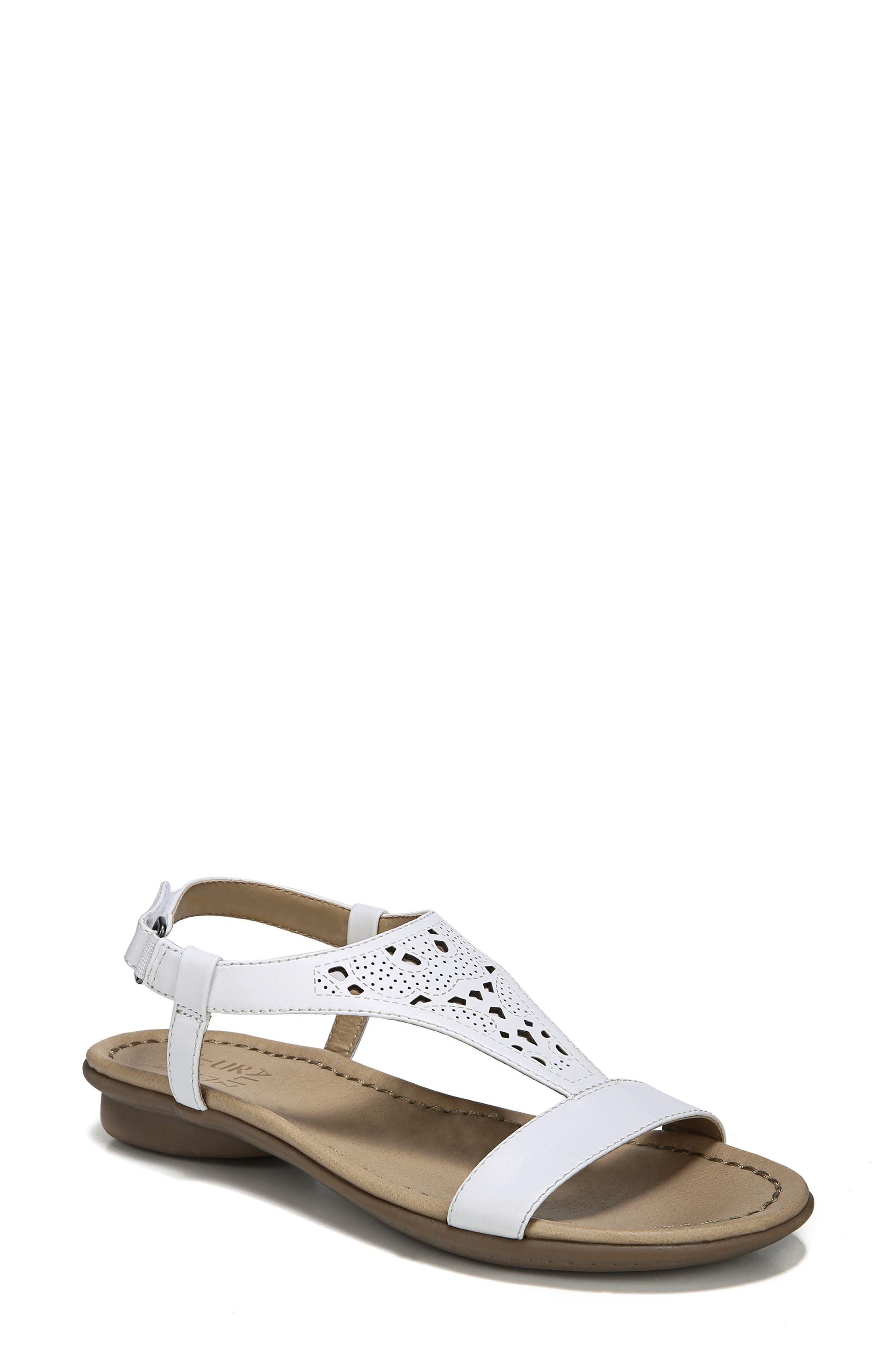 Windham Sandal,                             Main thumbnail 1, color,                             White Leather