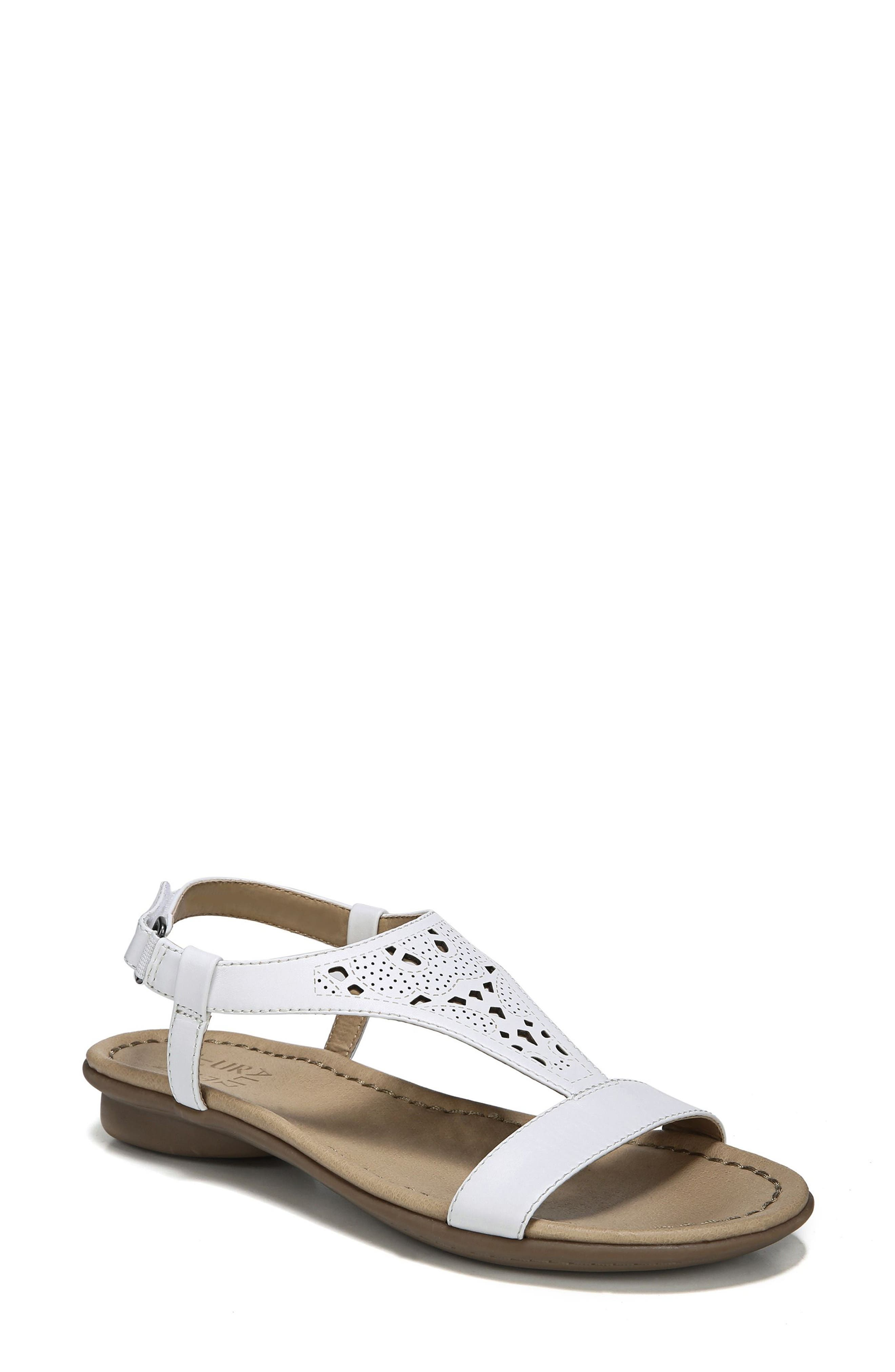 Windham Sandal,                         Main,                         color, White Leather