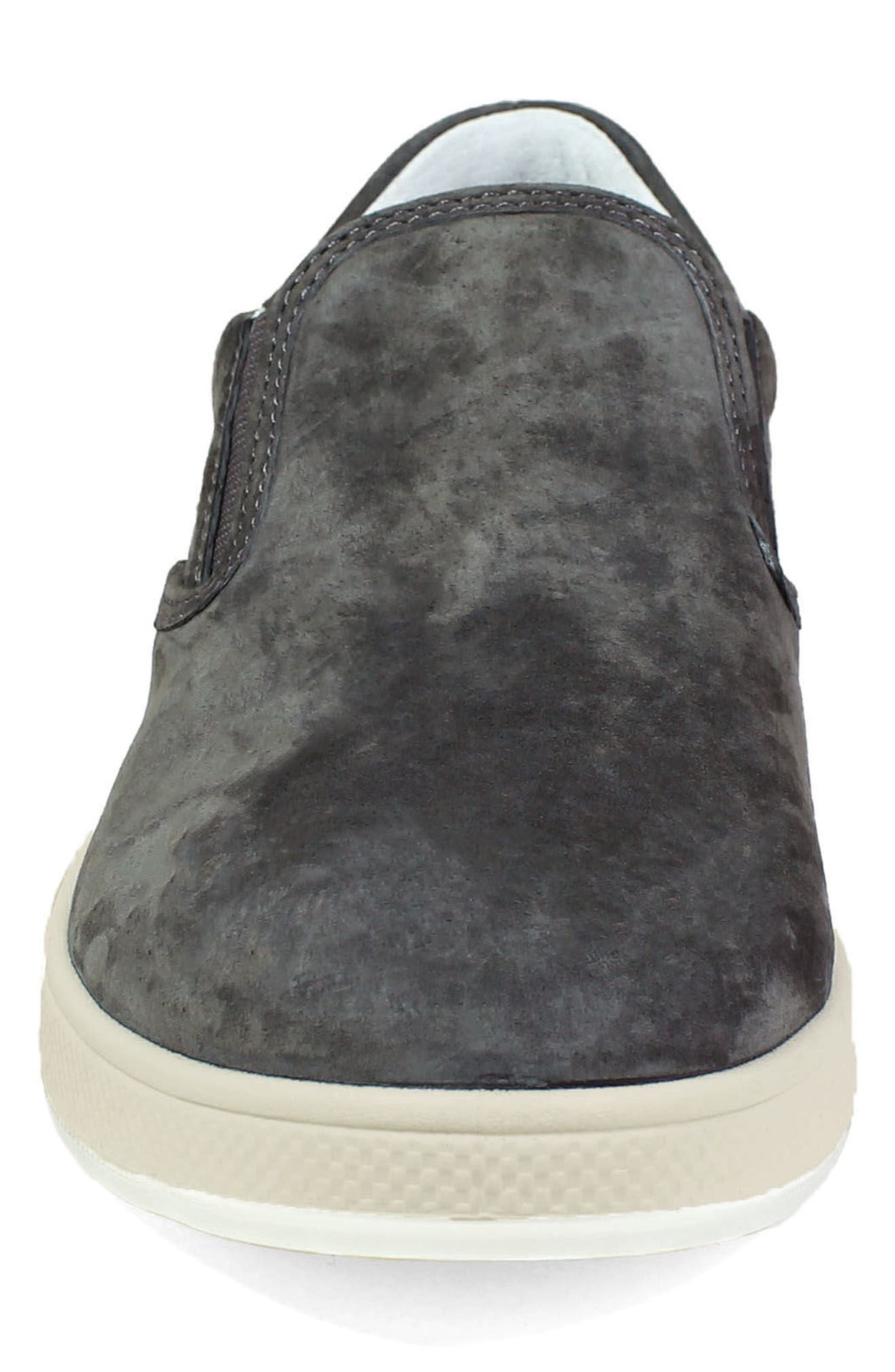 Edge Slip-On Sneaker,                             Alternate thumbnail 4, color,                             Charcoal Nubuck