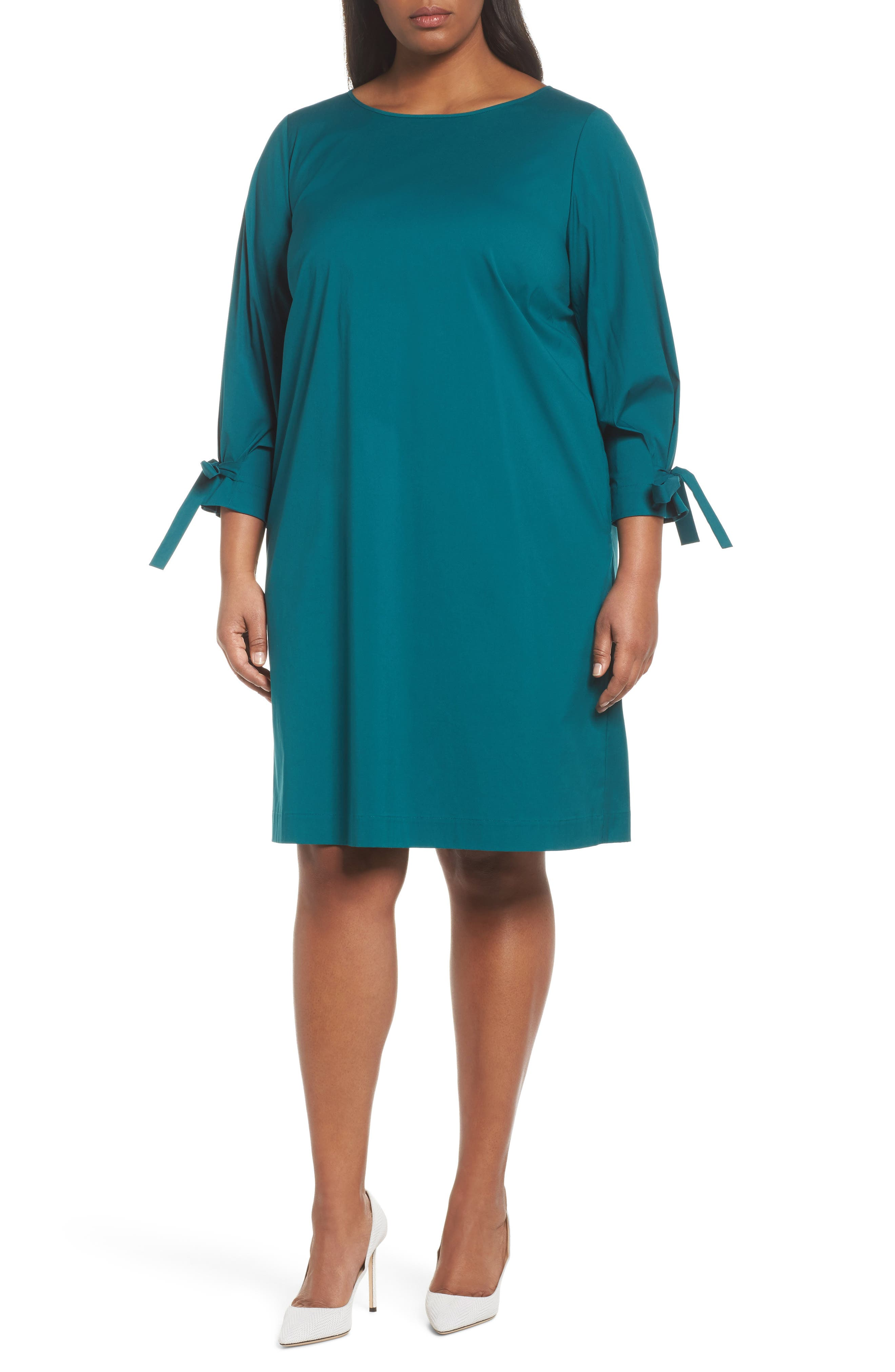 Alternate Image 1 Selected - Lafayette 148 New York Paige Shift Dress (Plus Size)