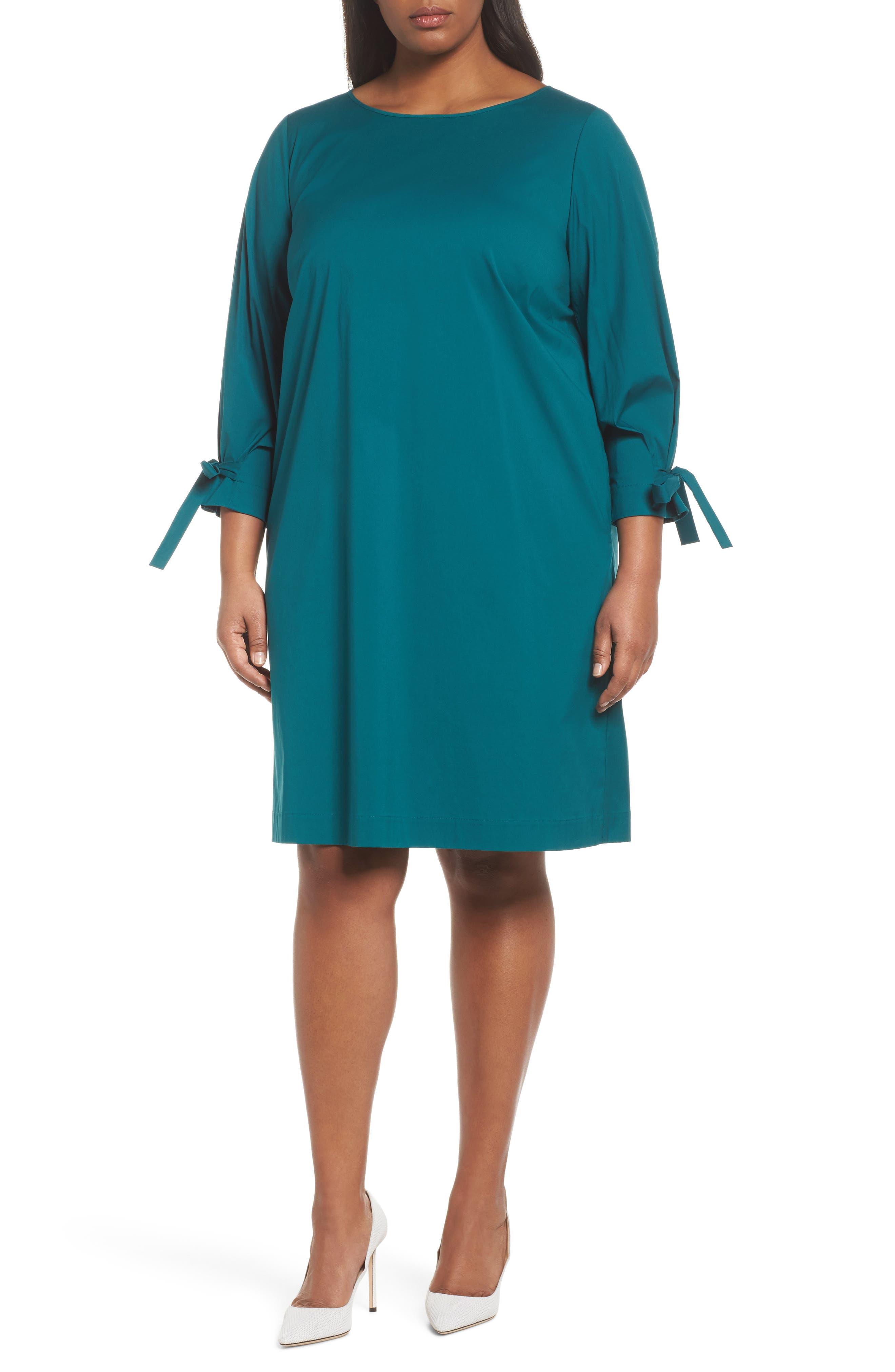 Paige Shift Dress,                         Main,                         color, Atlantic Teal
