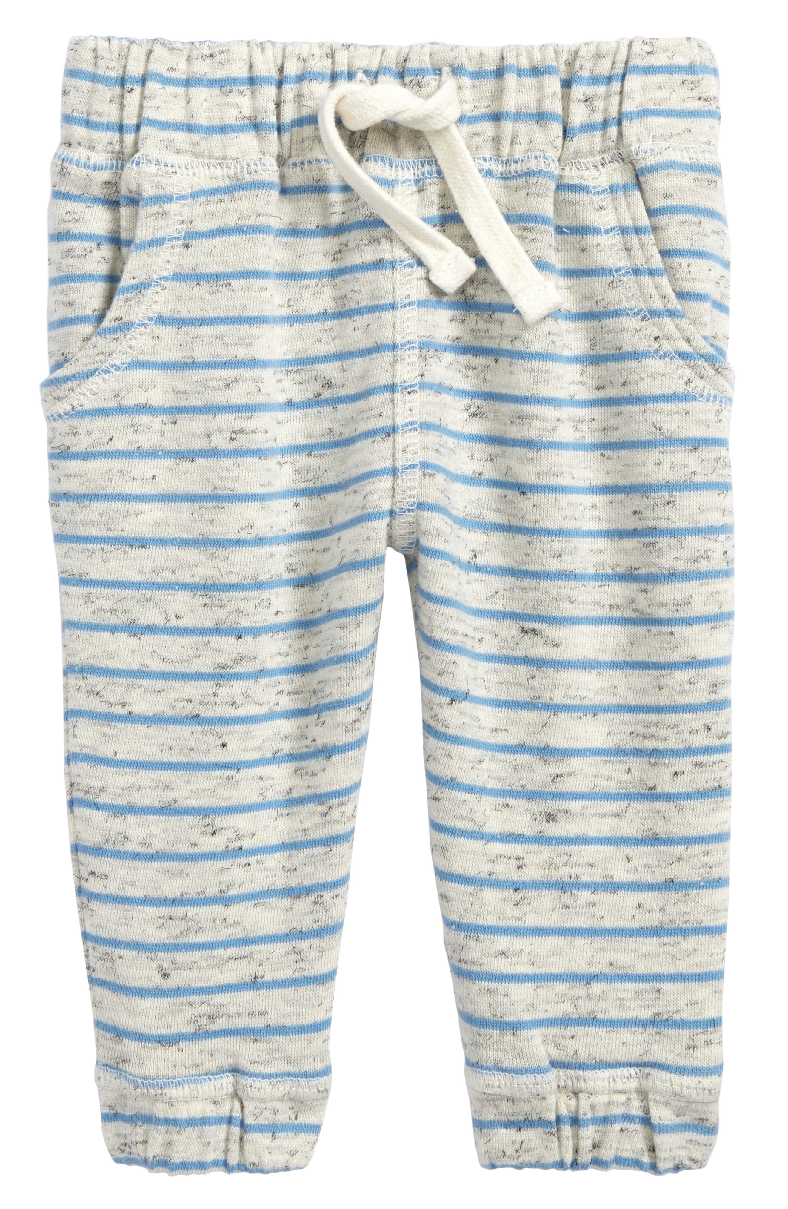 Terry Stripe Jogger Pants,                         Main,                         color, Ivory Egret- Blue Stripe