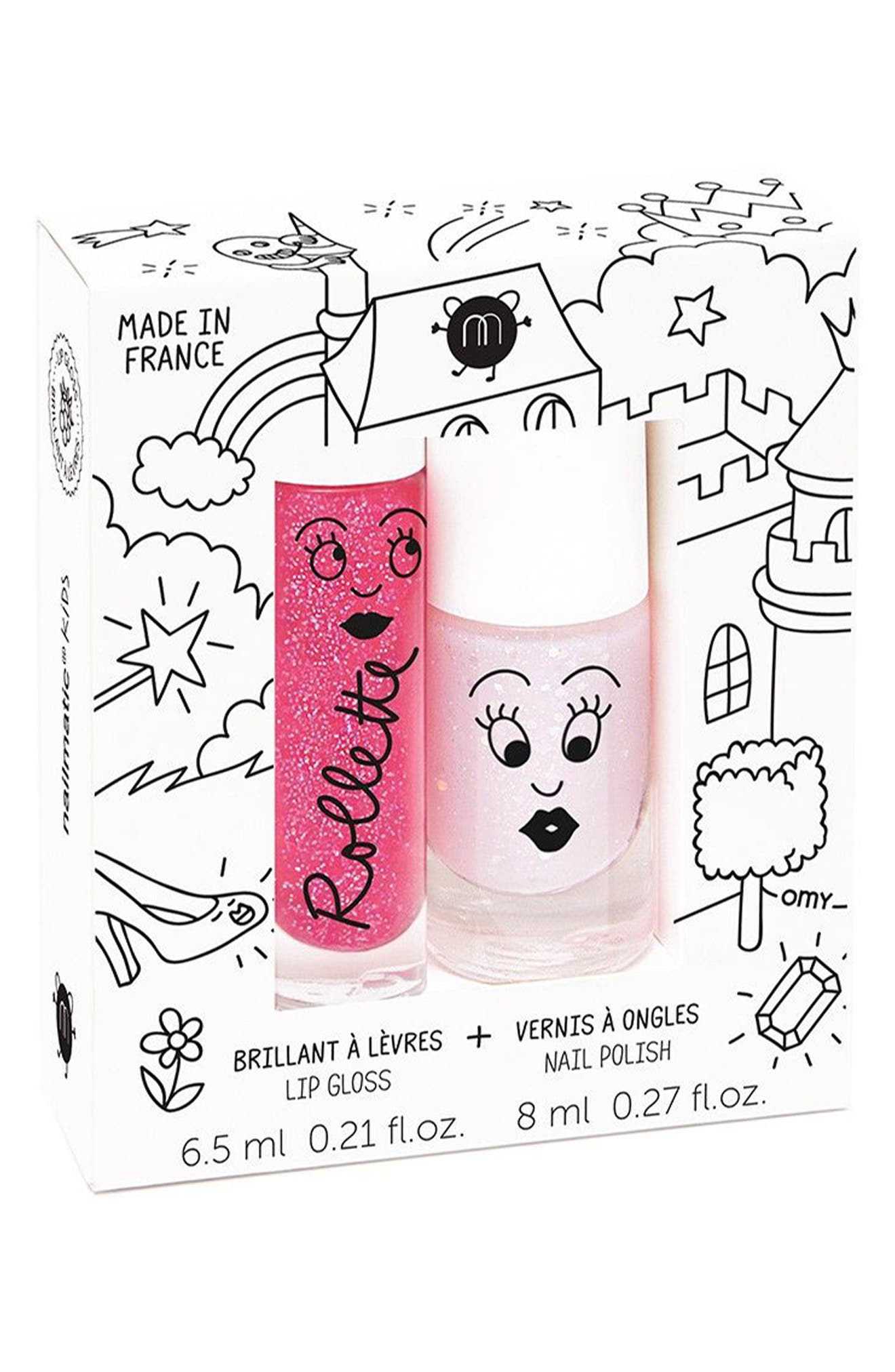 Water-Based Nail Polish Set,                         Main,                         color, Pink Light Pink Glitter
