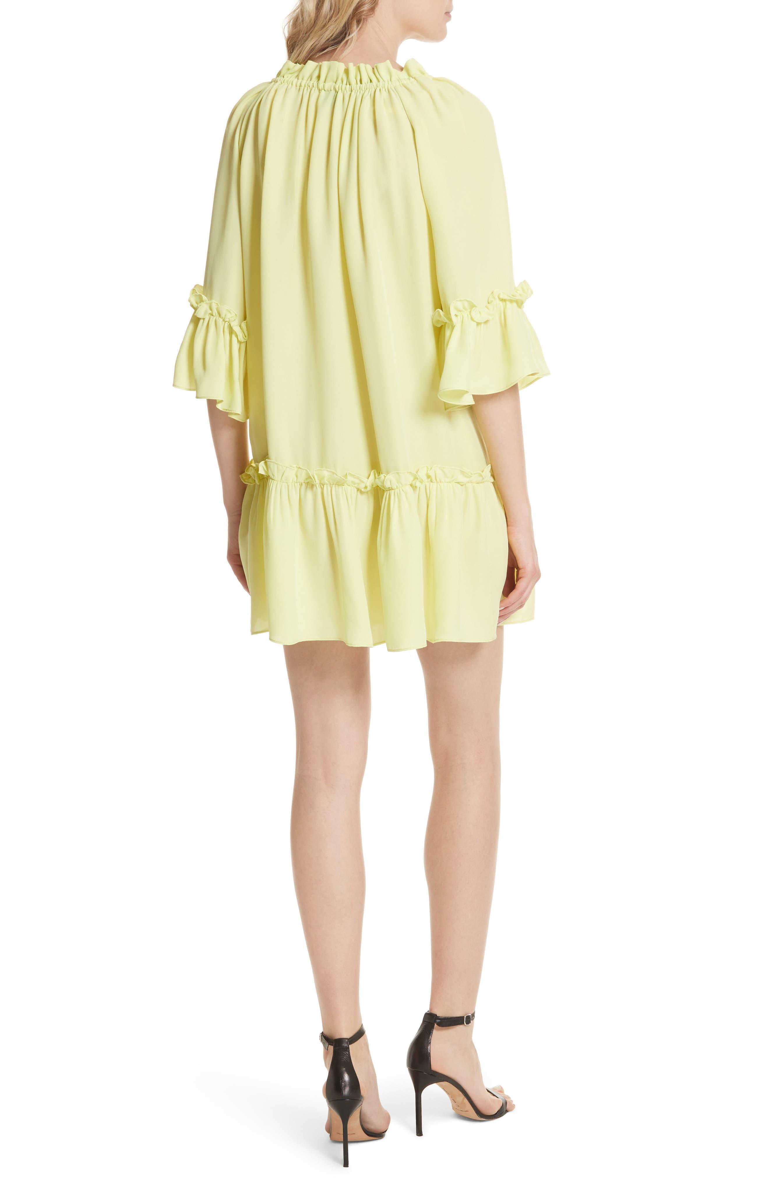 Santorini Ruffle Mini Dress,                             Alternate thumbnail 2, color,                             Lemon Yellow