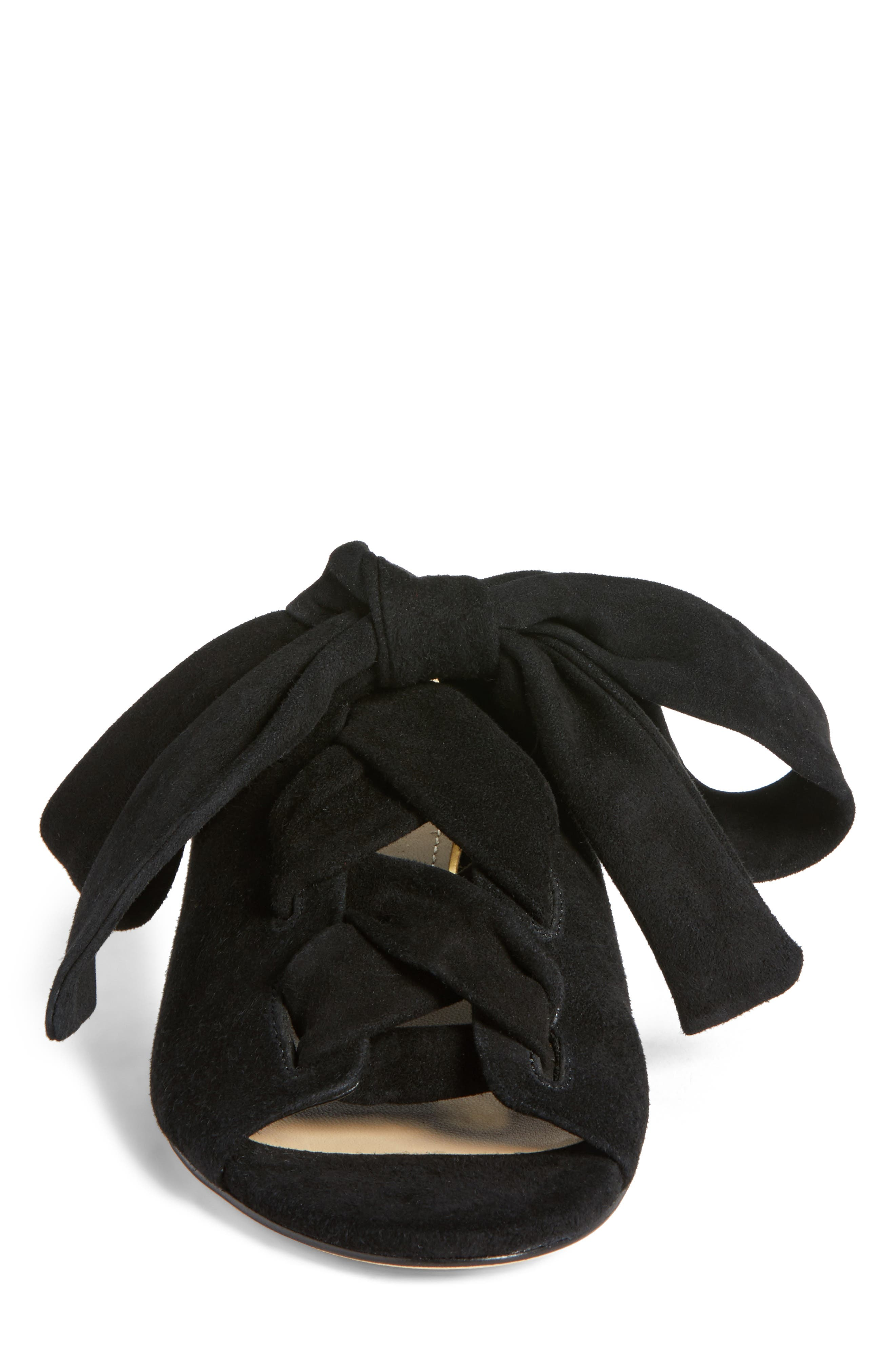 Bermuda Sandal,                             Alternate thumbnail 4, color,                             Black Suede