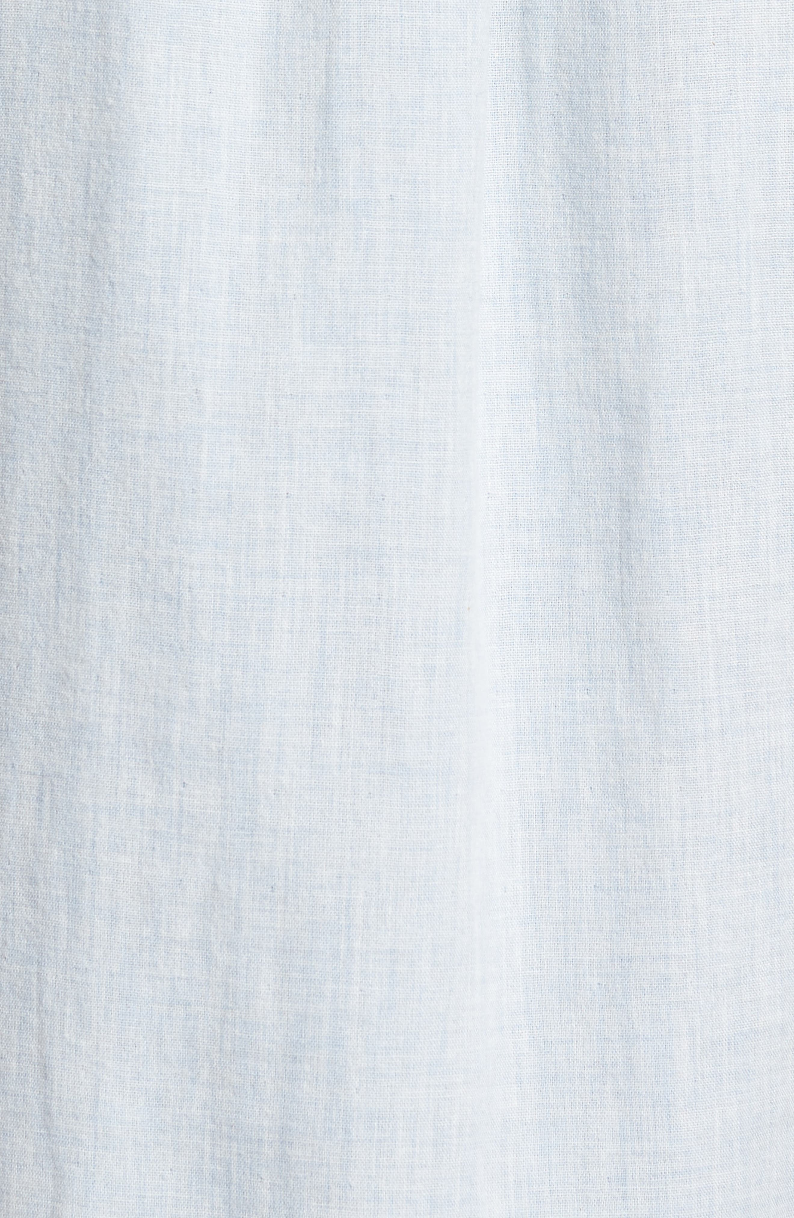 Hammond Slim Fit Sport Shirt,                             Alternate thumbnail 5, color,                             Light Blue Heather