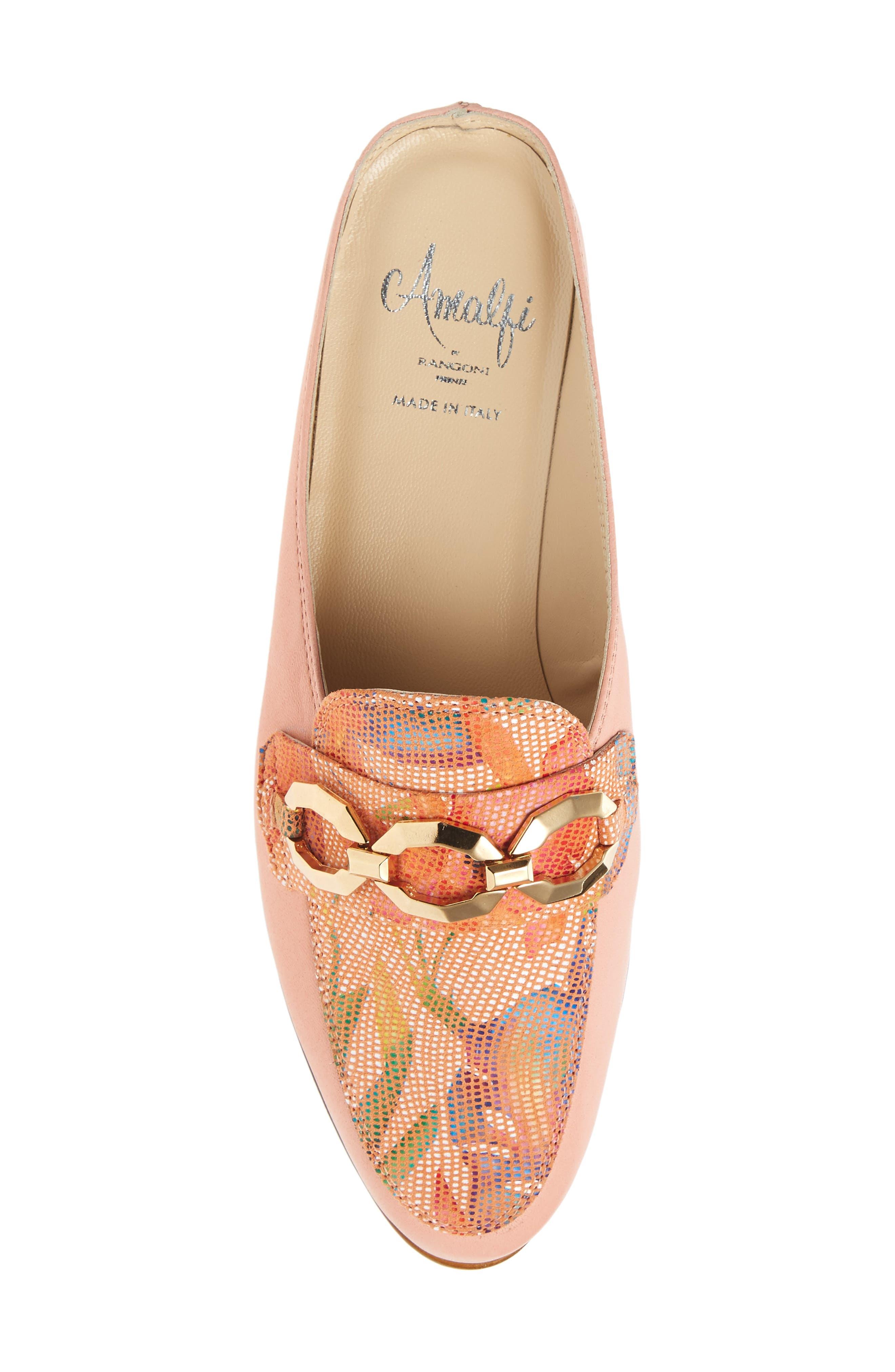 Almafi by Rangoni Otranto Loafer Slide,                             Alternate thumbnail 5, color,                             Rose Leather