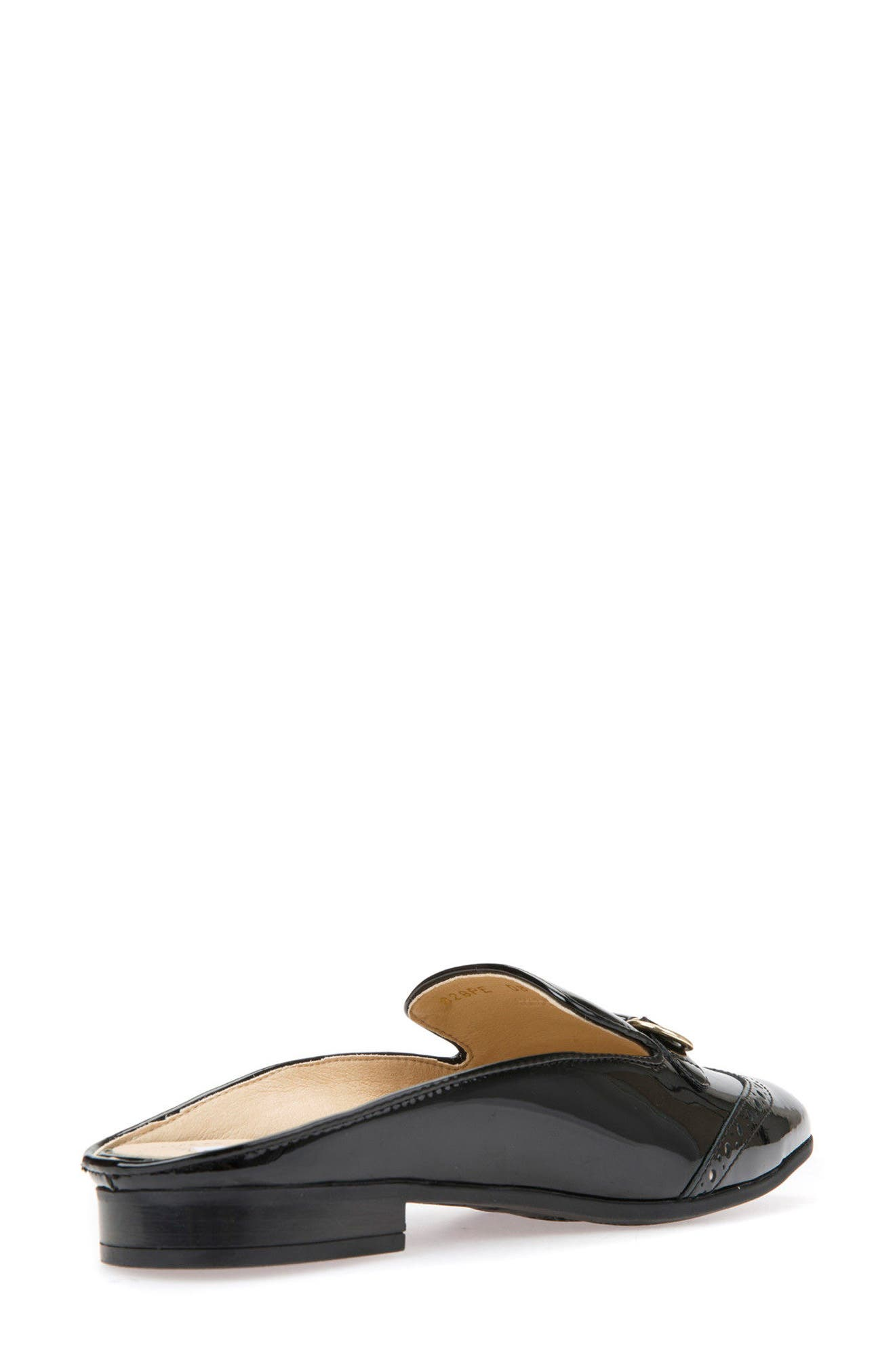 Marlyna Wingtip Mule,                             Alternate thumbnail 2, color,                             Black Leather