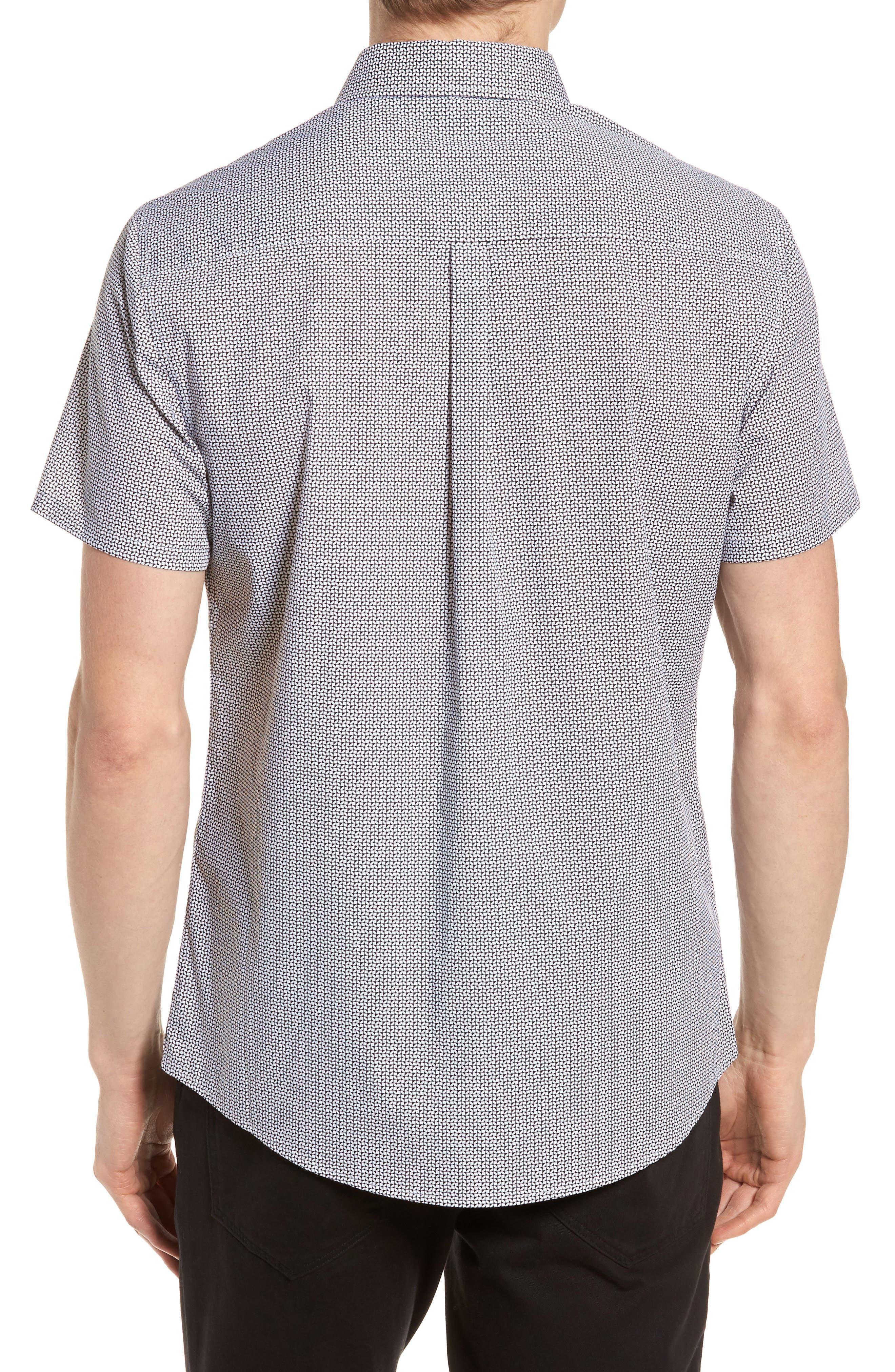 Alternate Image 2  - Vince Camuto Slim Fit Geo Print Sport Shirt