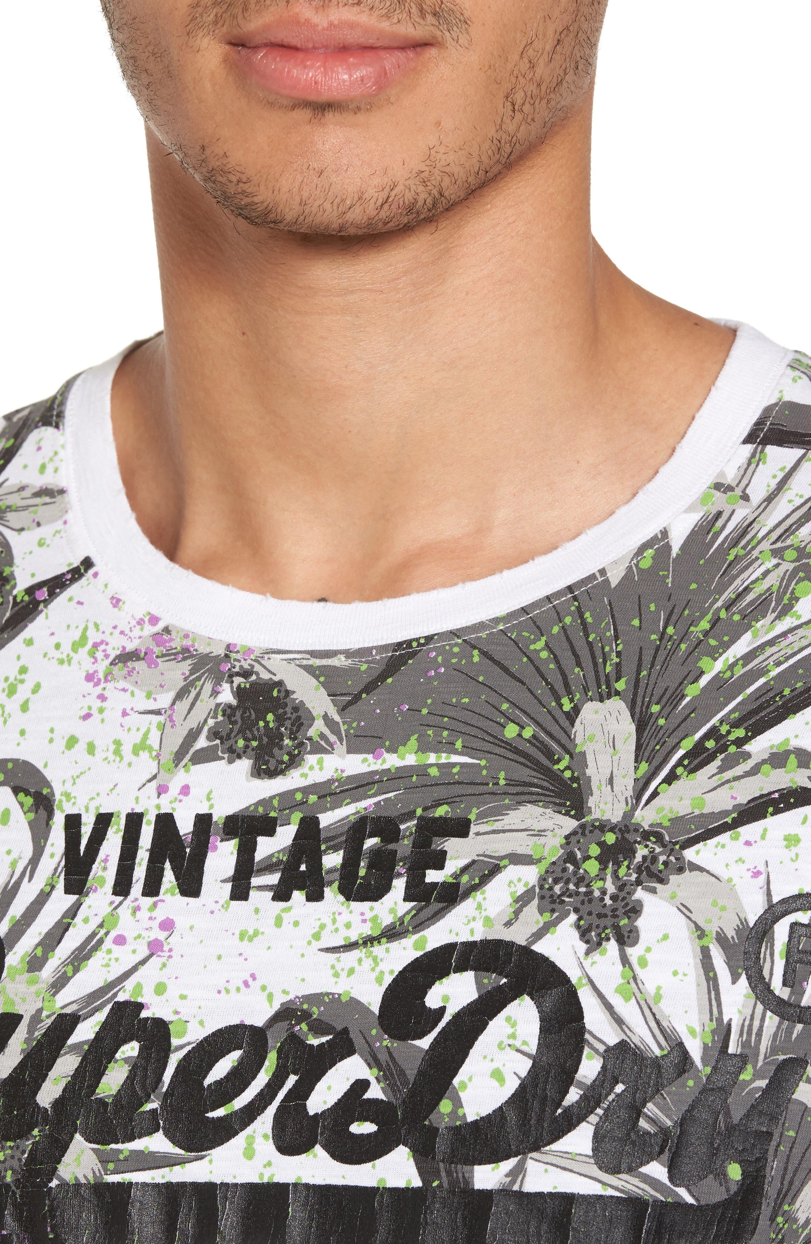 Shirt Shop Aop T-Shirt,                             Alternate thumbnail 4, color,                             Optic