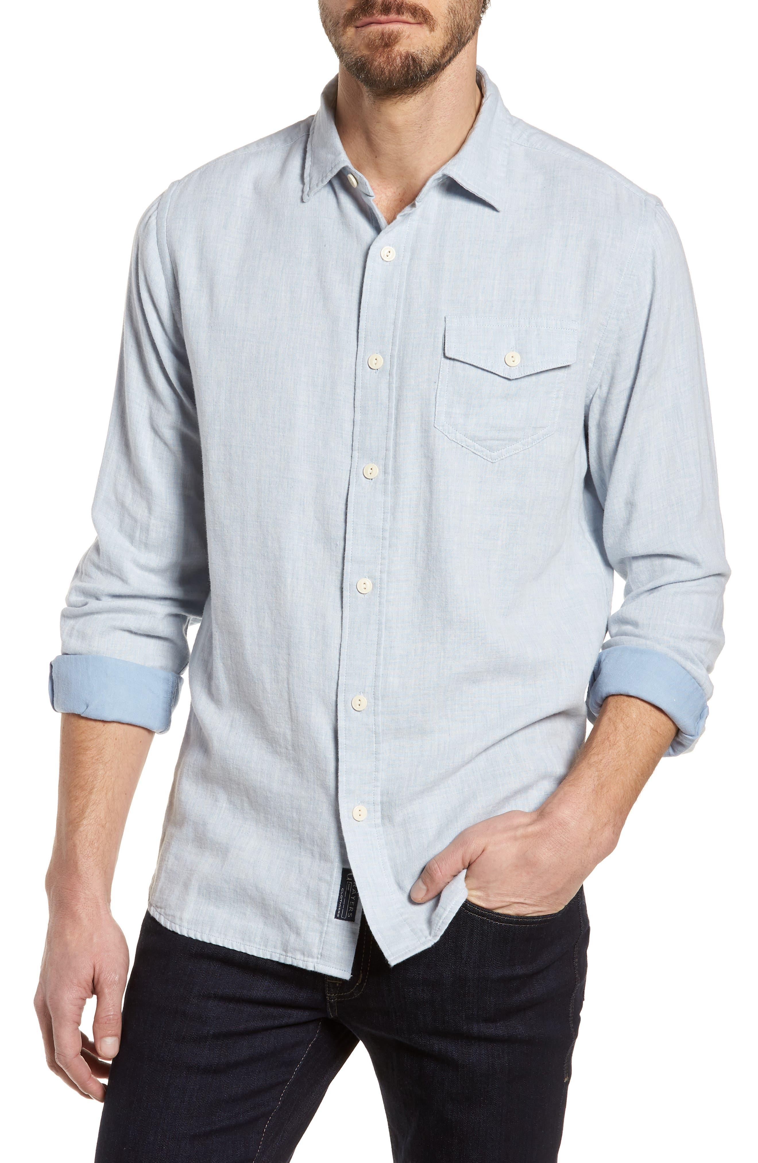 Hammond Slim Fit Sport Shirt,                         Main,                         color, Light Blue Heather