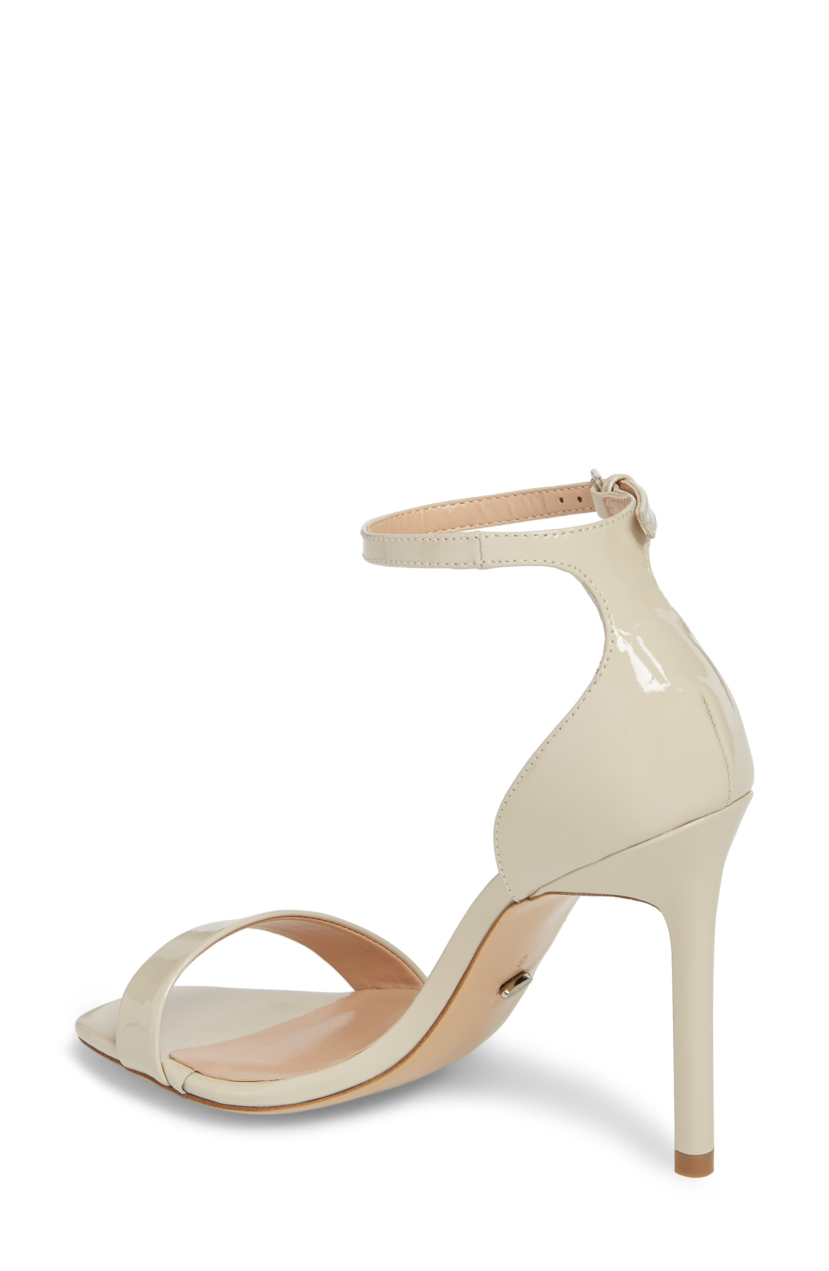 Sacha Ankle Strap Sandal,                             Alternate thumbnail 2, color,                             Oyster Patent Leather
