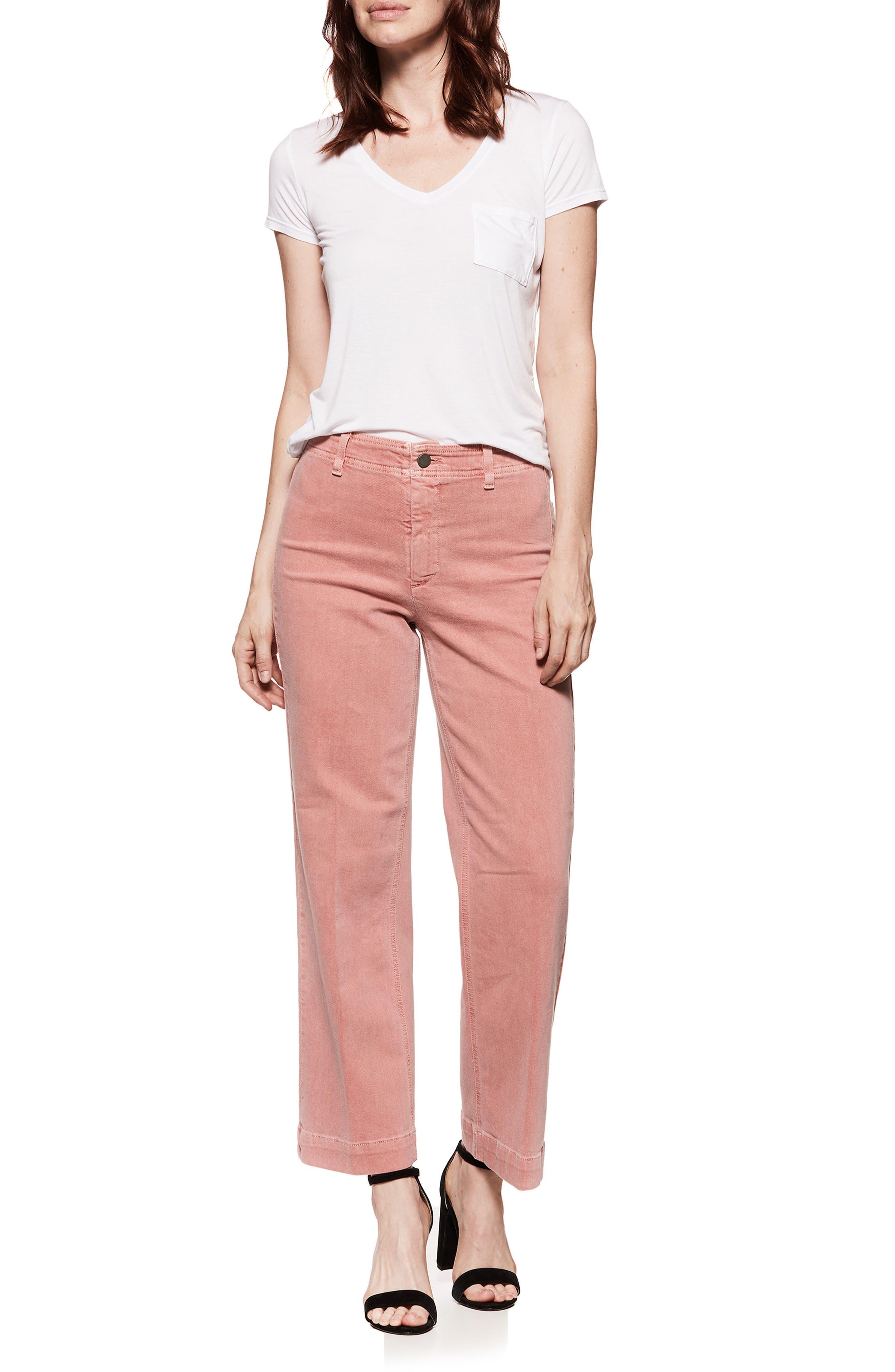 Nellie Clean Front Culotte Jeans,                             Alternate thumbnail 2, color,                             Vintage Desert Sunrise