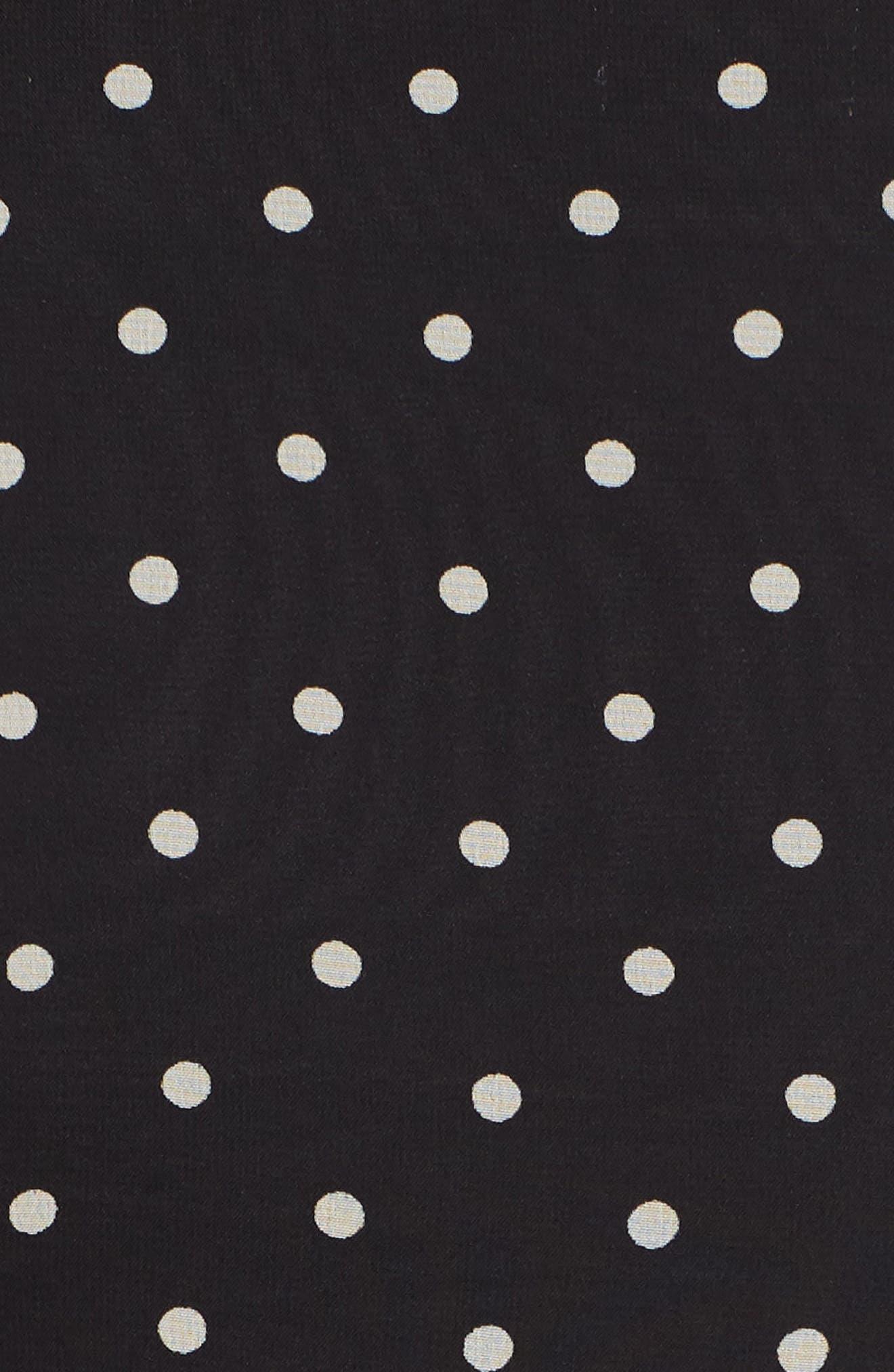 New York Dotted Chiffon Dress,                             Alternate thumbnail 5, color,                             Black/ White