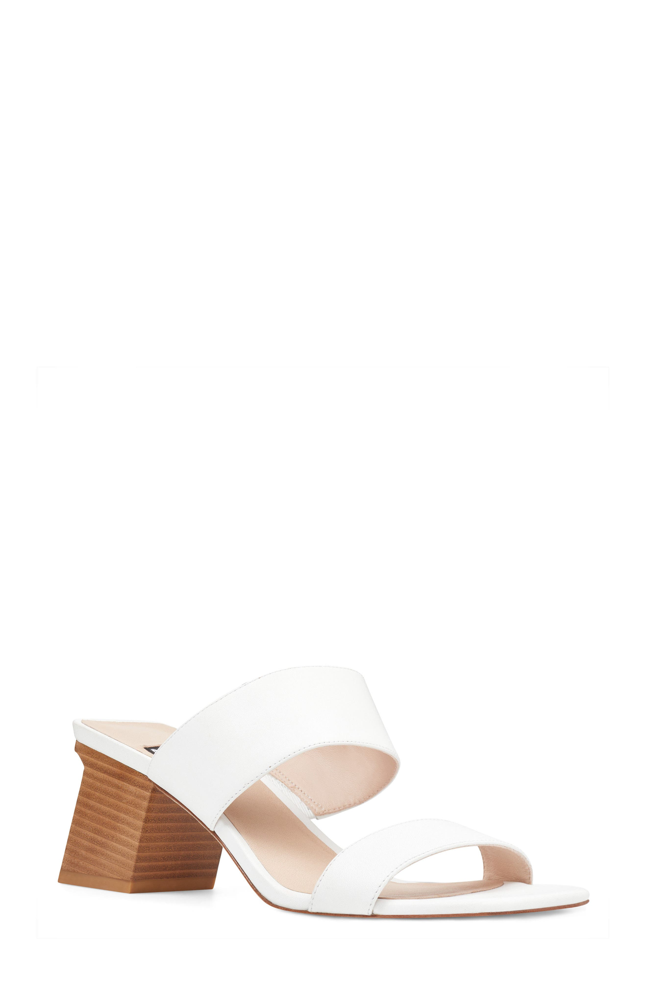 Churen - 40th Anniversary Capsule Collection Sandal,                             Main thumbnail 1, color,                             White Leather