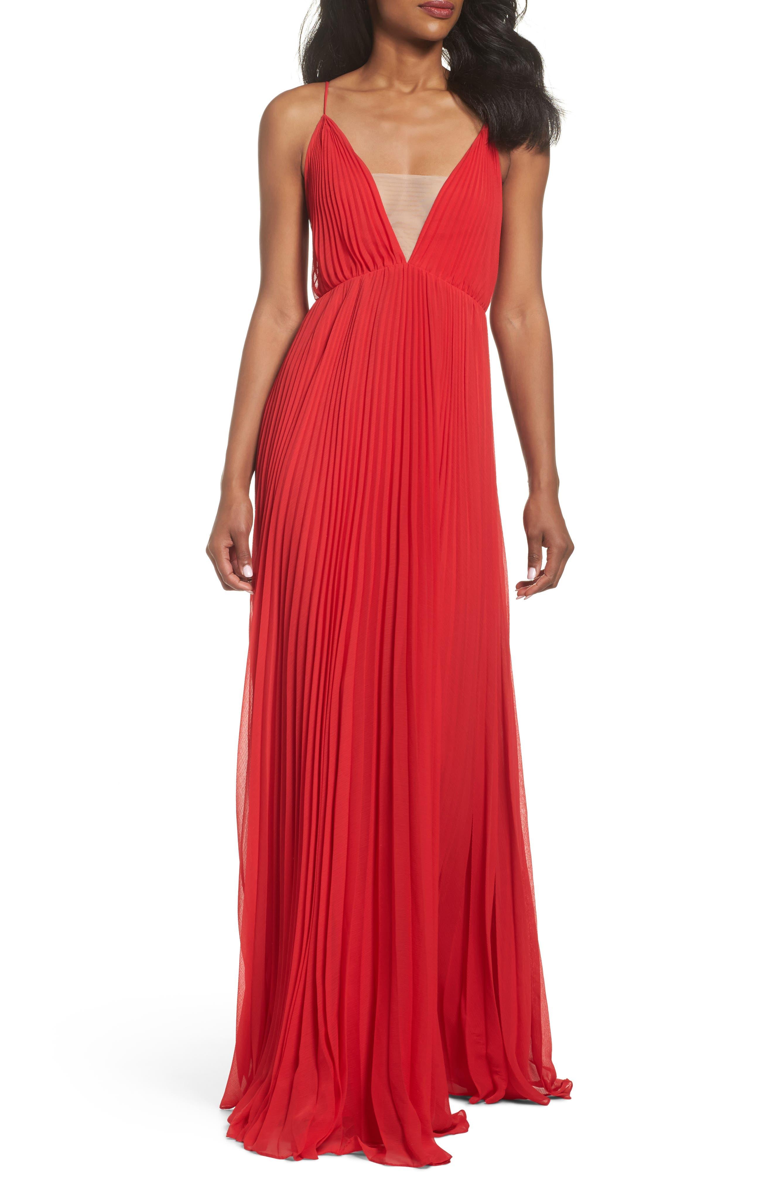 Jill Jill Stuart Pleated Empire Waist Gown