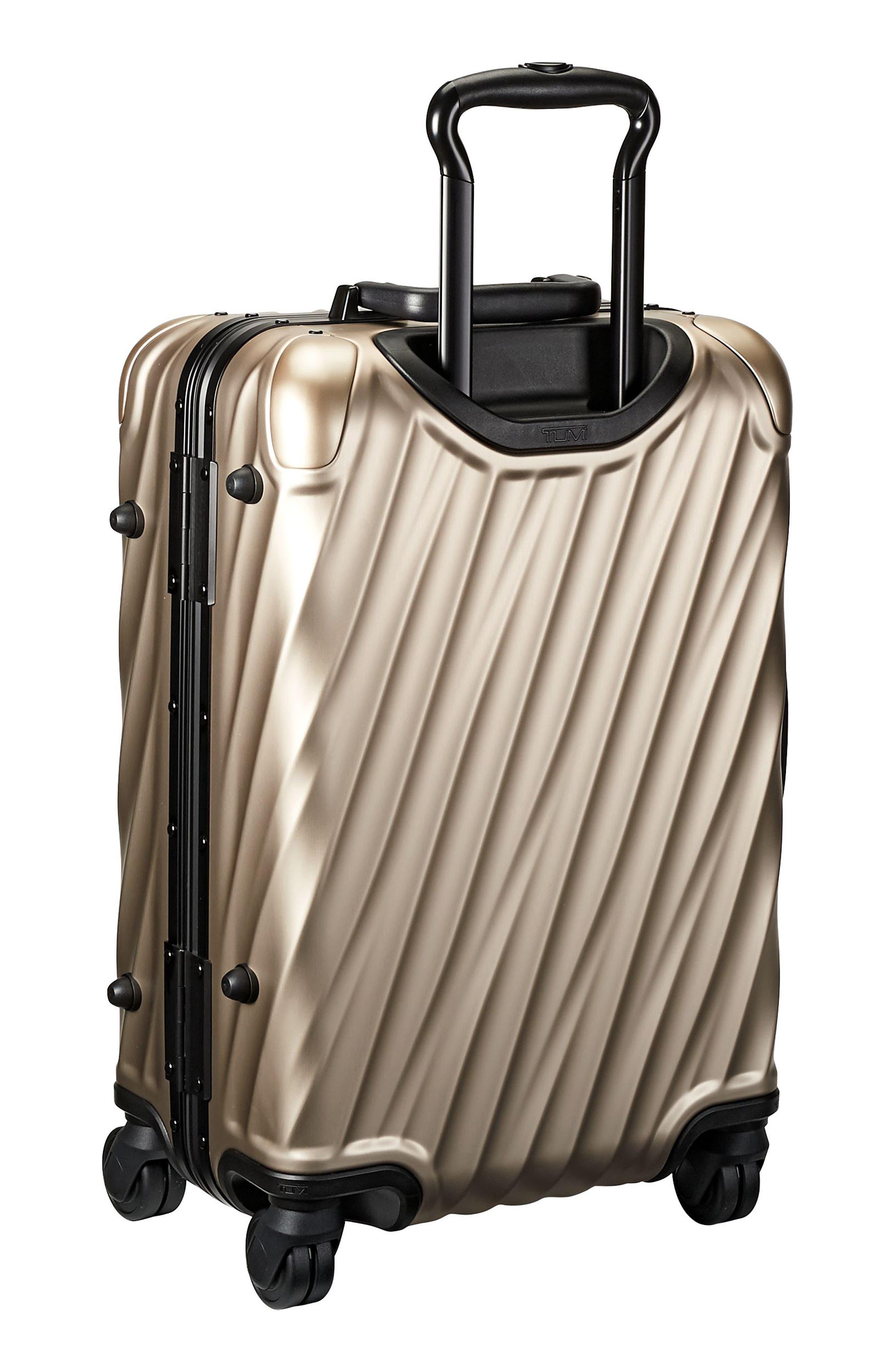 19-Degree 22-Inch Aluminum Spinner Carry-On,                             Alternate thumbnail 3, color,                             Ivory Gold