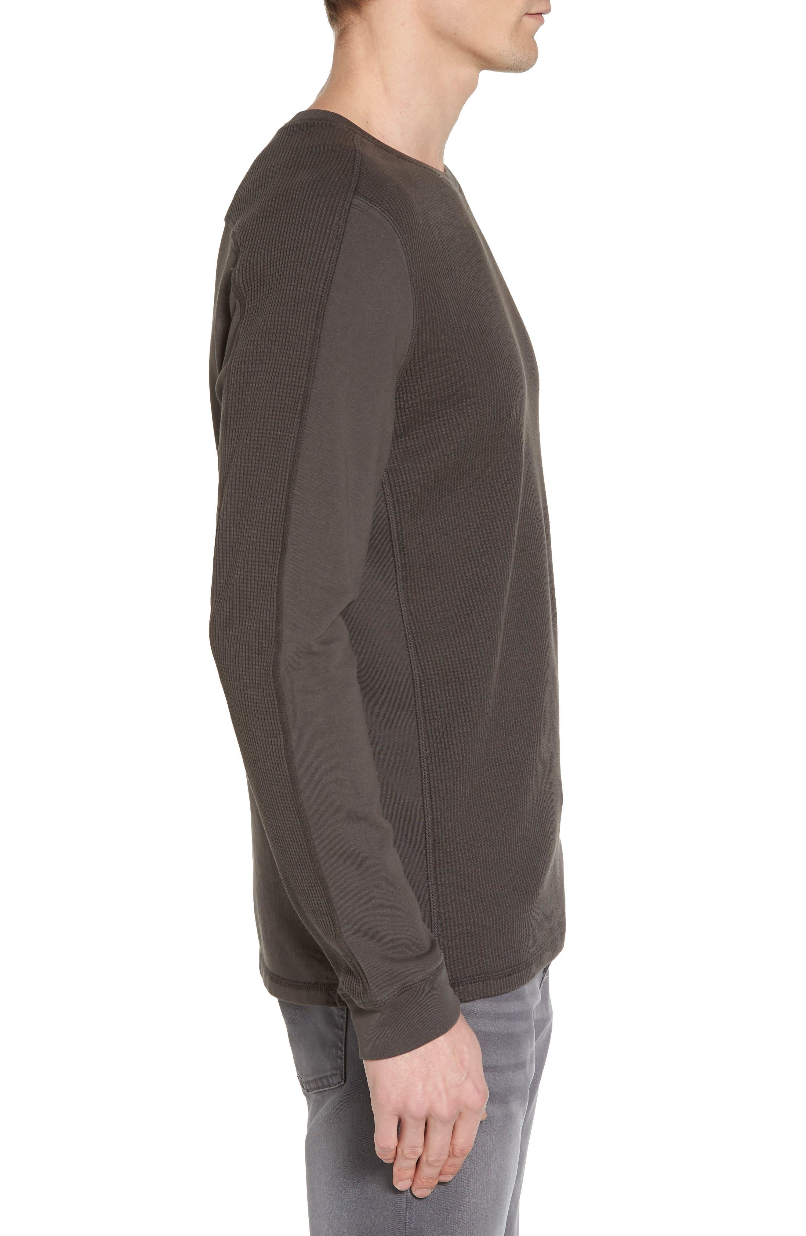 Trevor Slim Fit Crewneck Shirt,                             Alternate thumbnail 3, color,                             Smoke Grey