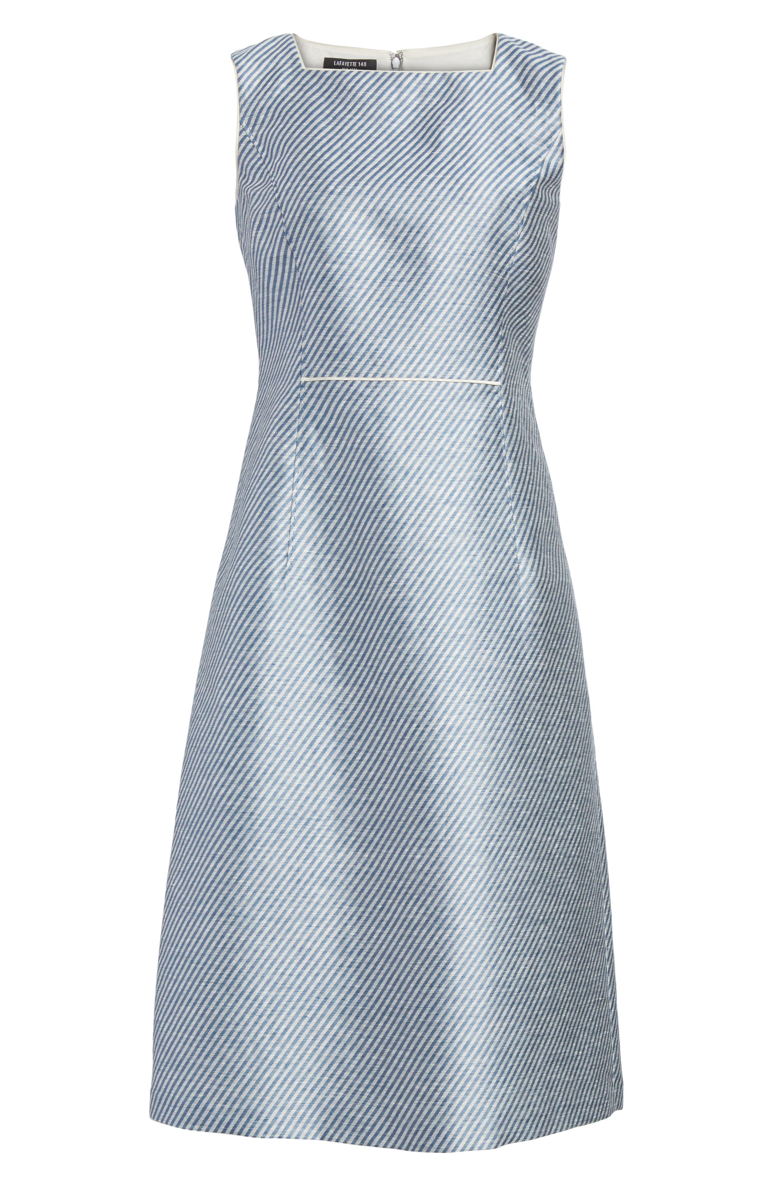 Jojo Sheath Dress,                             Alternate thumbnail 6, color,                             Glaze Blue Multi