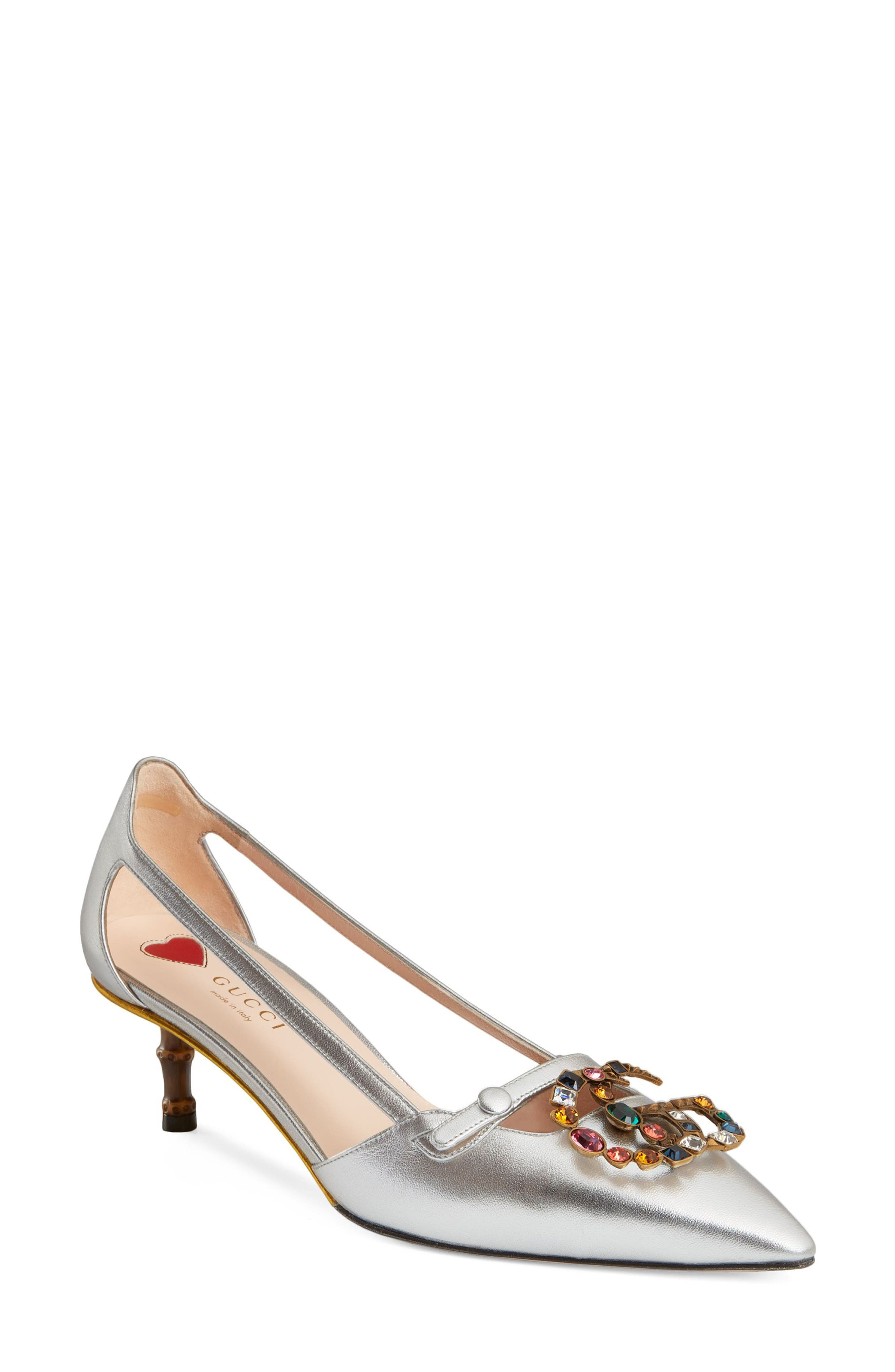 Gucci Unia Embellished Pump (Women)