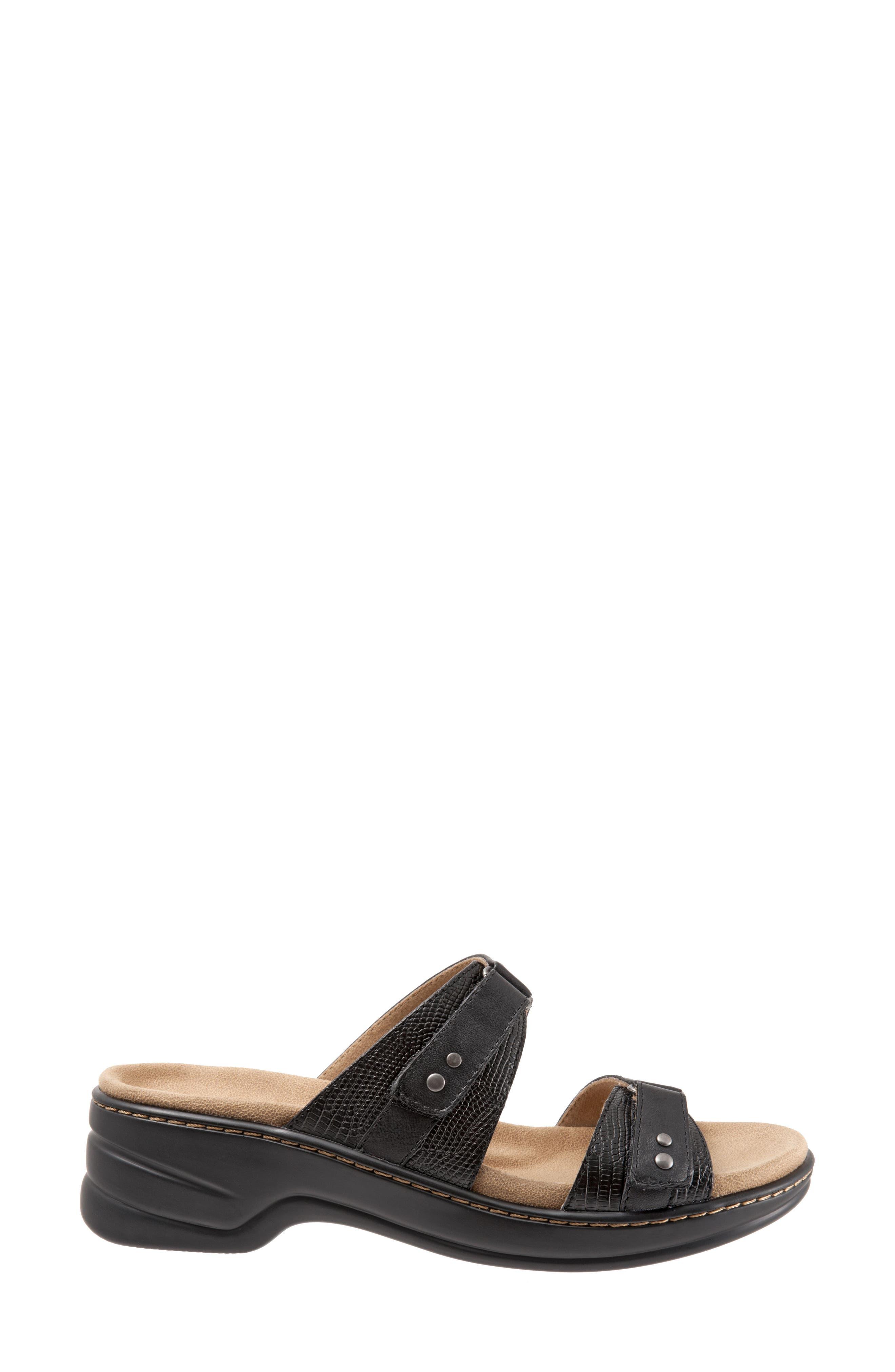 Neiman Sandal,                             Alternate thumbnail 3, color,                             Black Leather