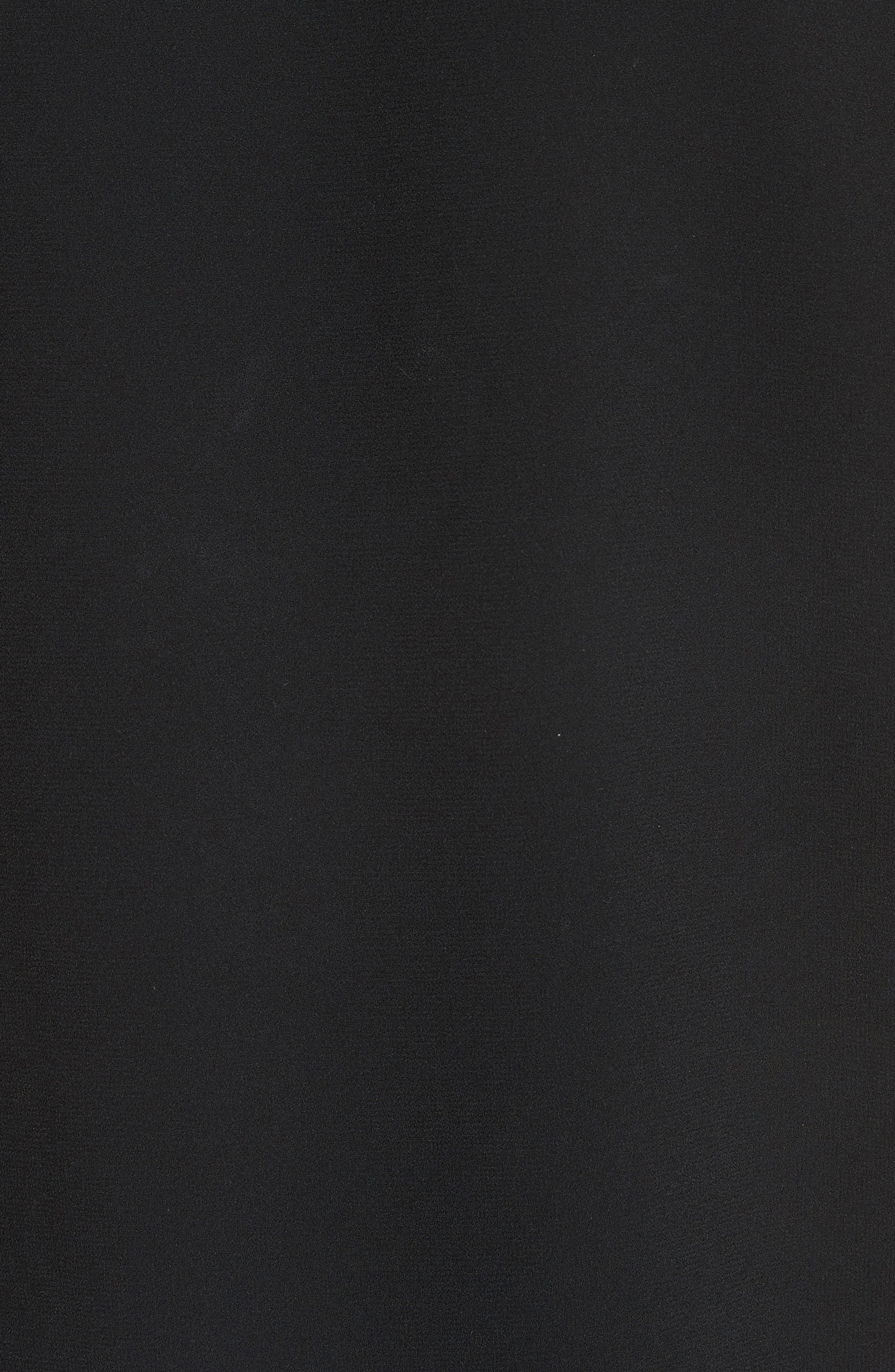 Mica Contrast Trim Crop Top,                             Alternate thumbnail 6, color,                             Black
