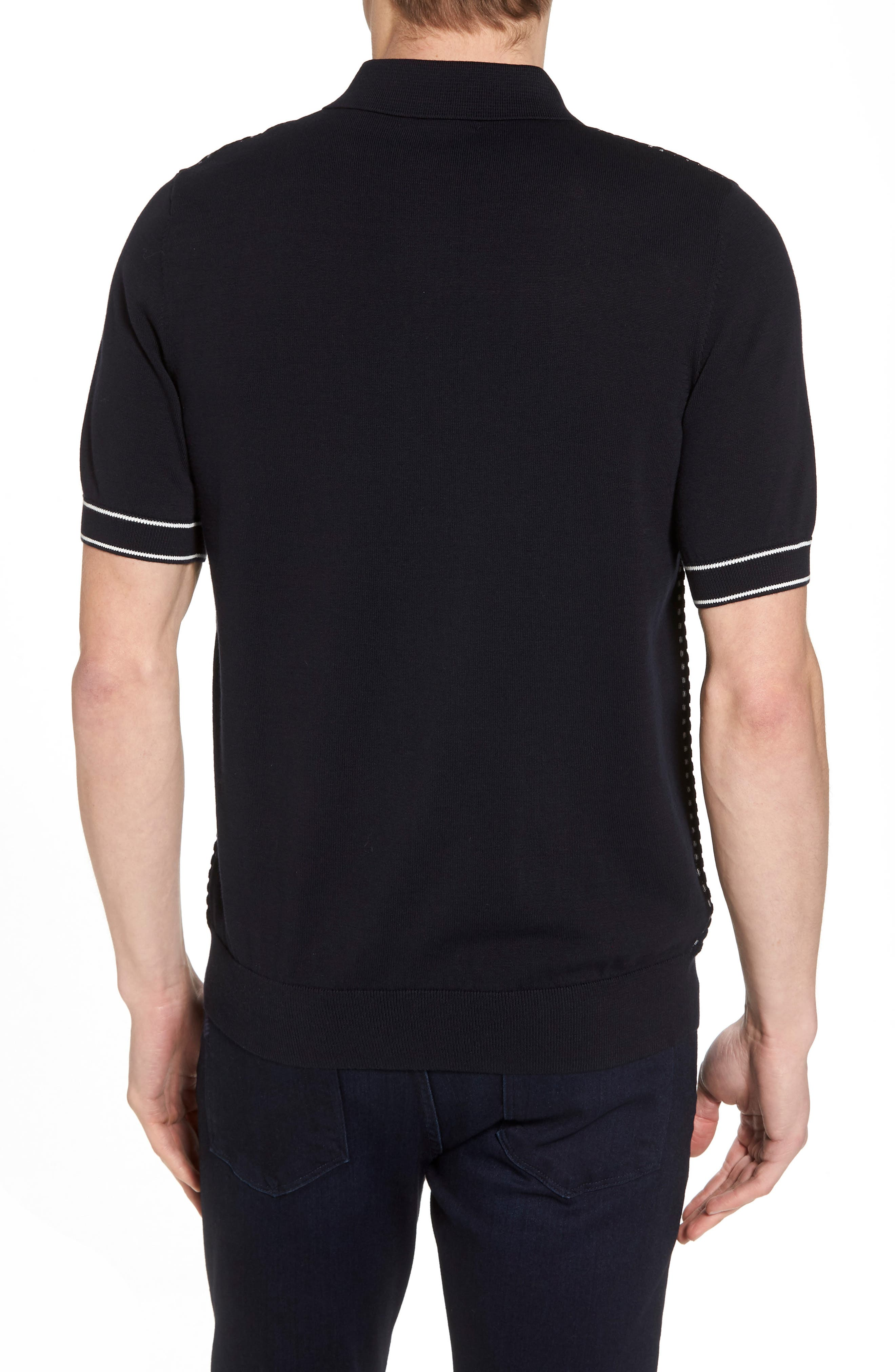 Alternate Image 2  - Fred Perry Jacquard Polo Shirt