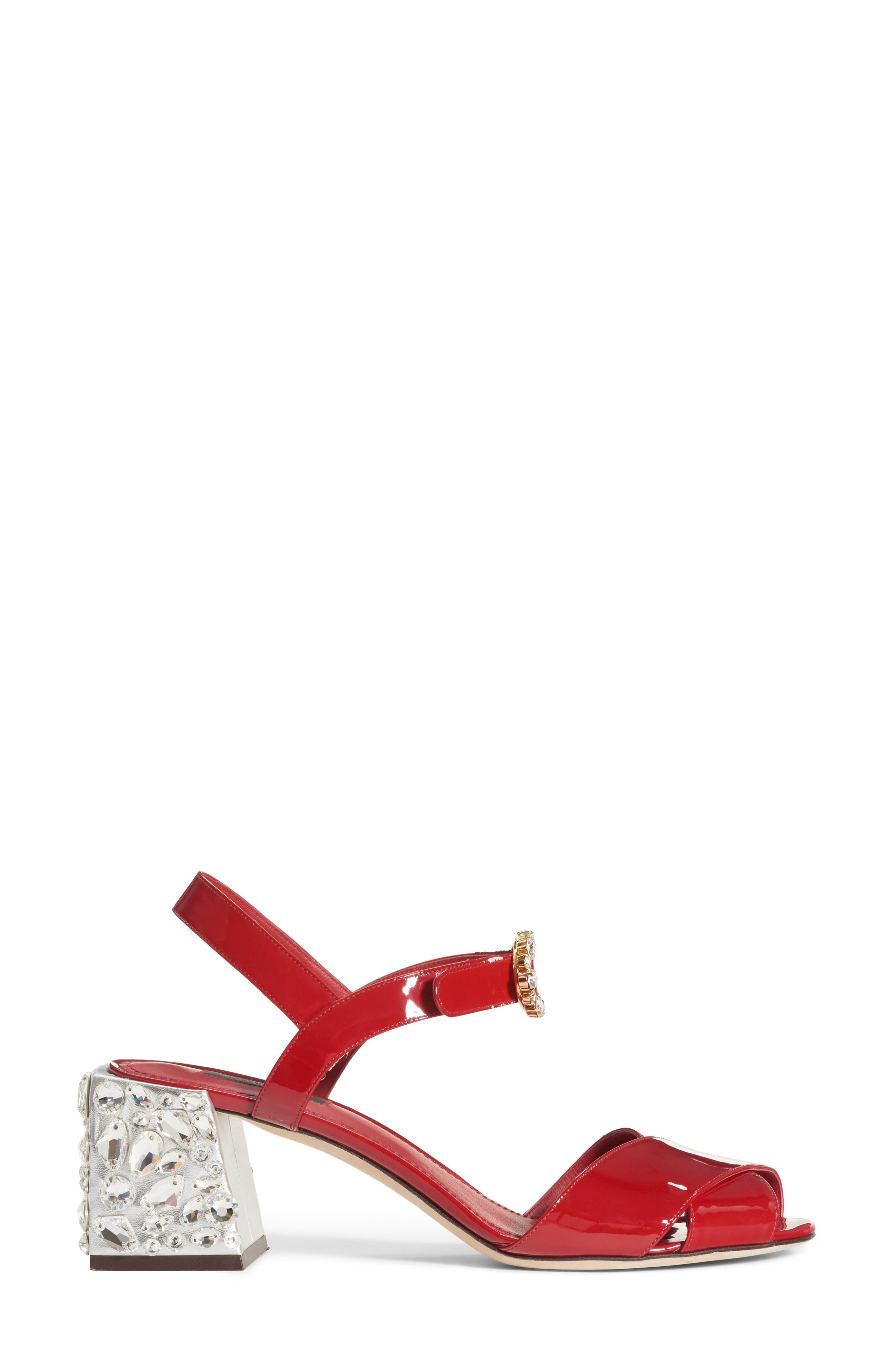Alternate Image 4  - Dolce&Gabbana Crystal Embellished Sandal (Women)