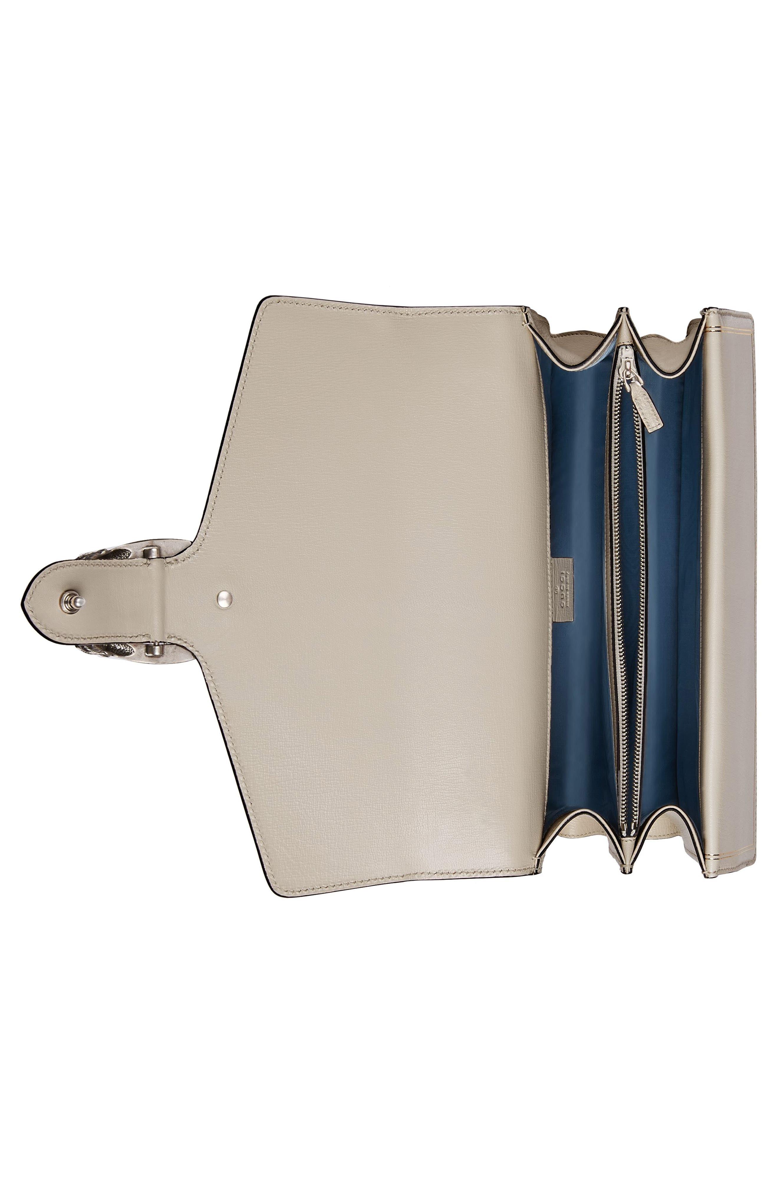 Dionysus Moon & Stars Leather Shoulder Bag,                             Alternate thumbnail 3, color,                             Mystic White/ Oro