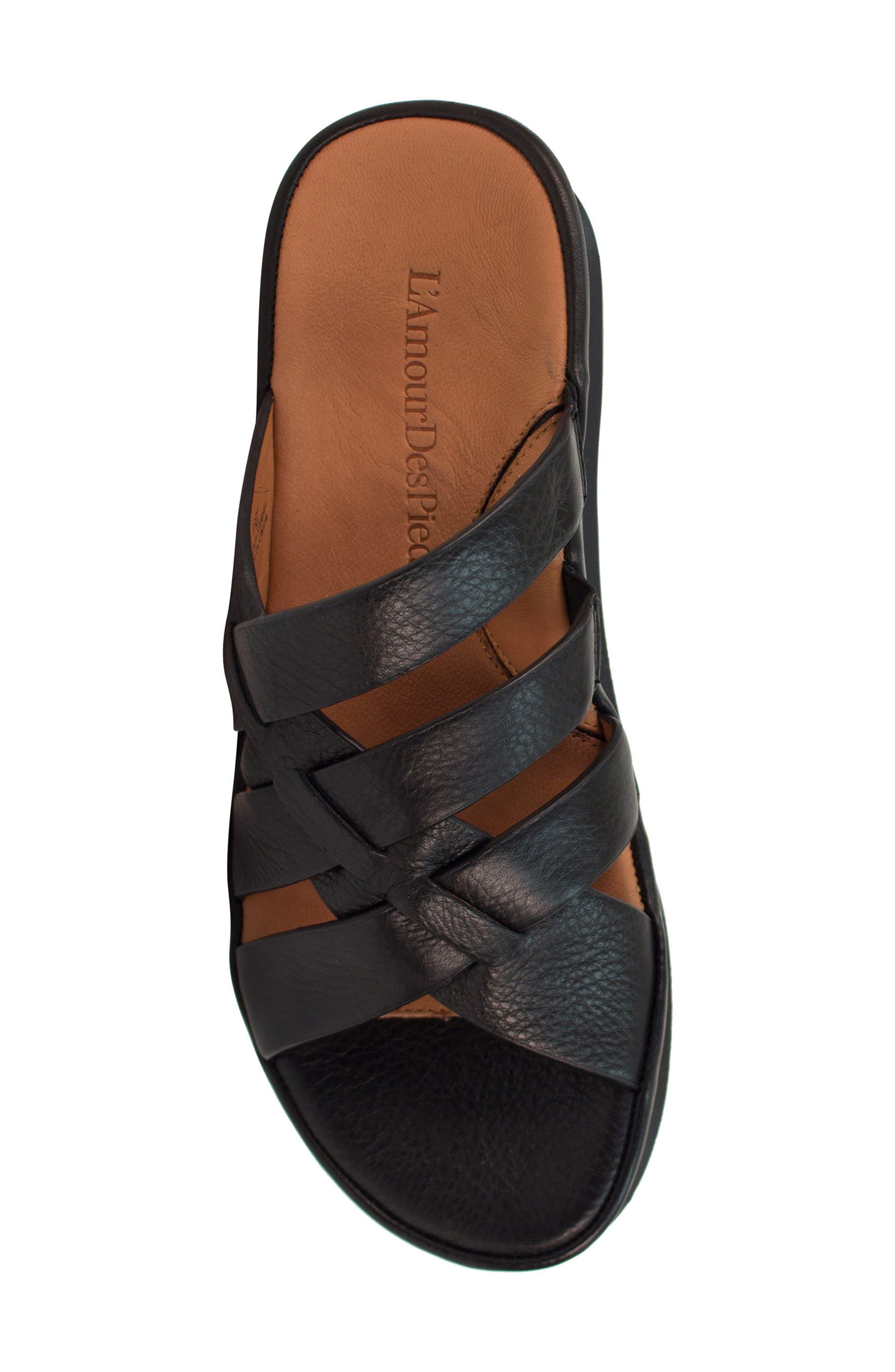 Veryl Sandal,                             Alternate thumbnail 5, color,                             Black Leather