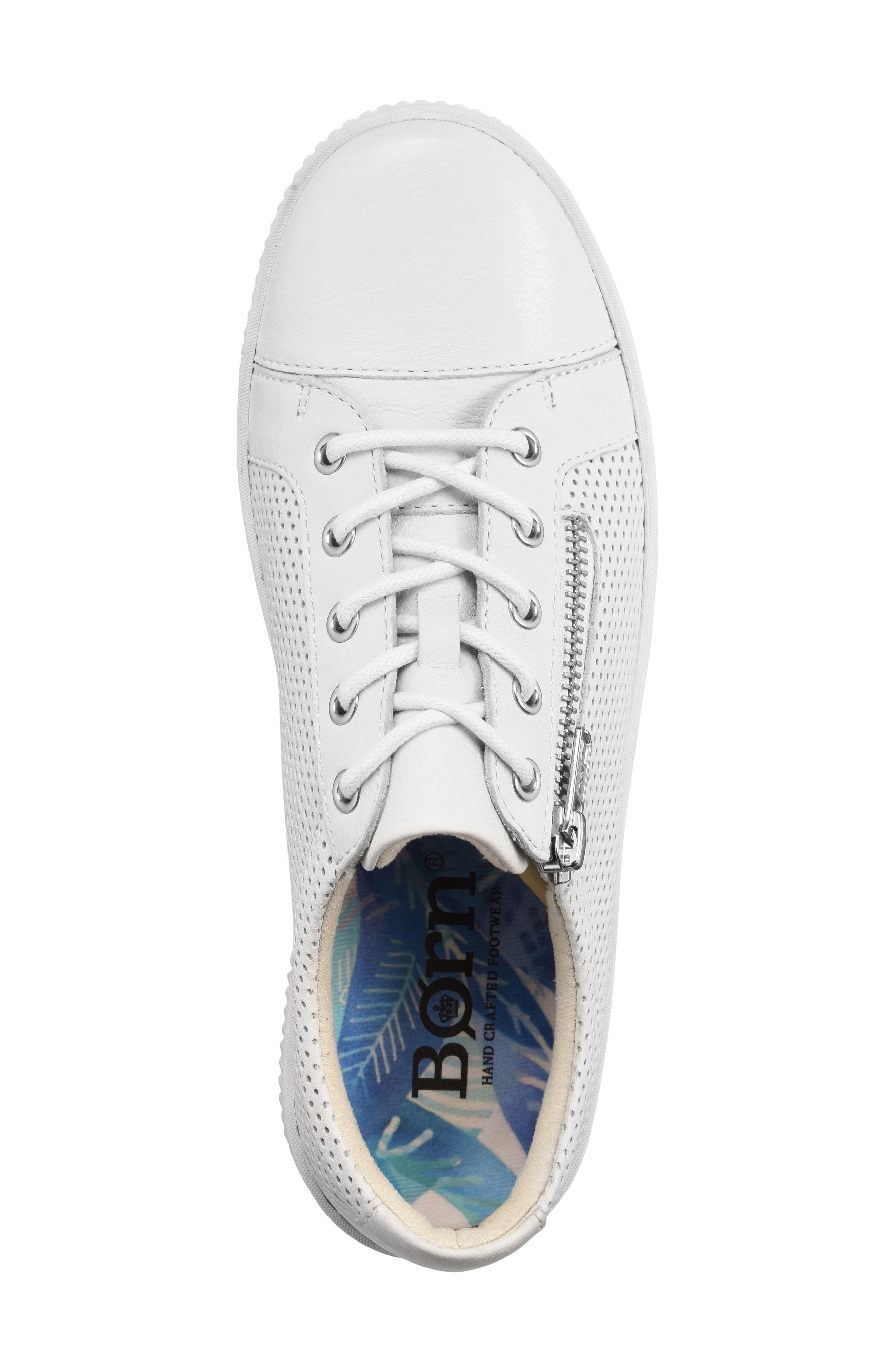 Tamara Perforated Sneaker,                             Alternate thumbnail 5, color,                             White Leather
